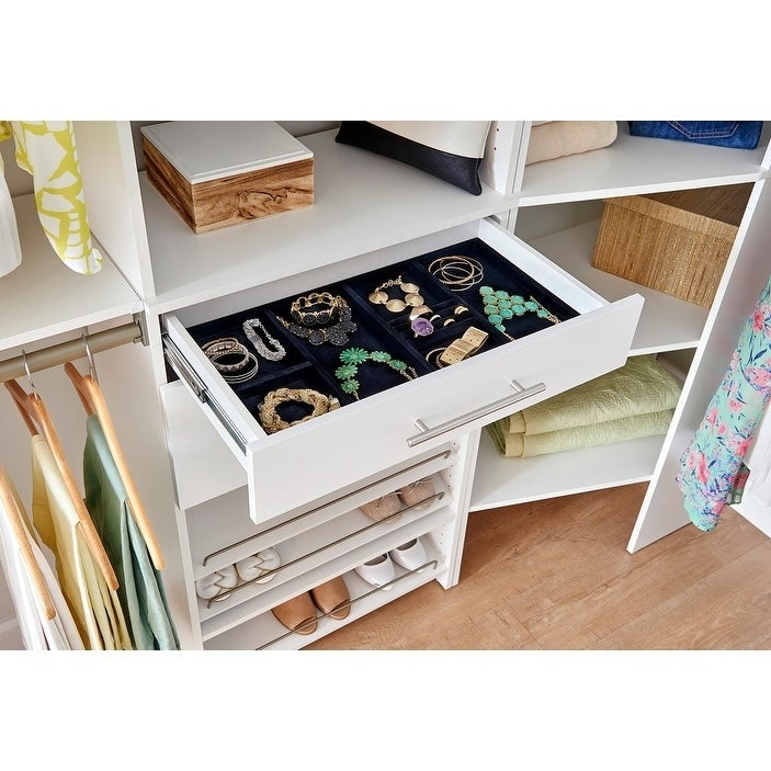 Shop ClosetMaid SuiteSymphony Jewelry Tray Drawer Insert   Free Shipping On  Orders Over $45   Overstock.com   14416546