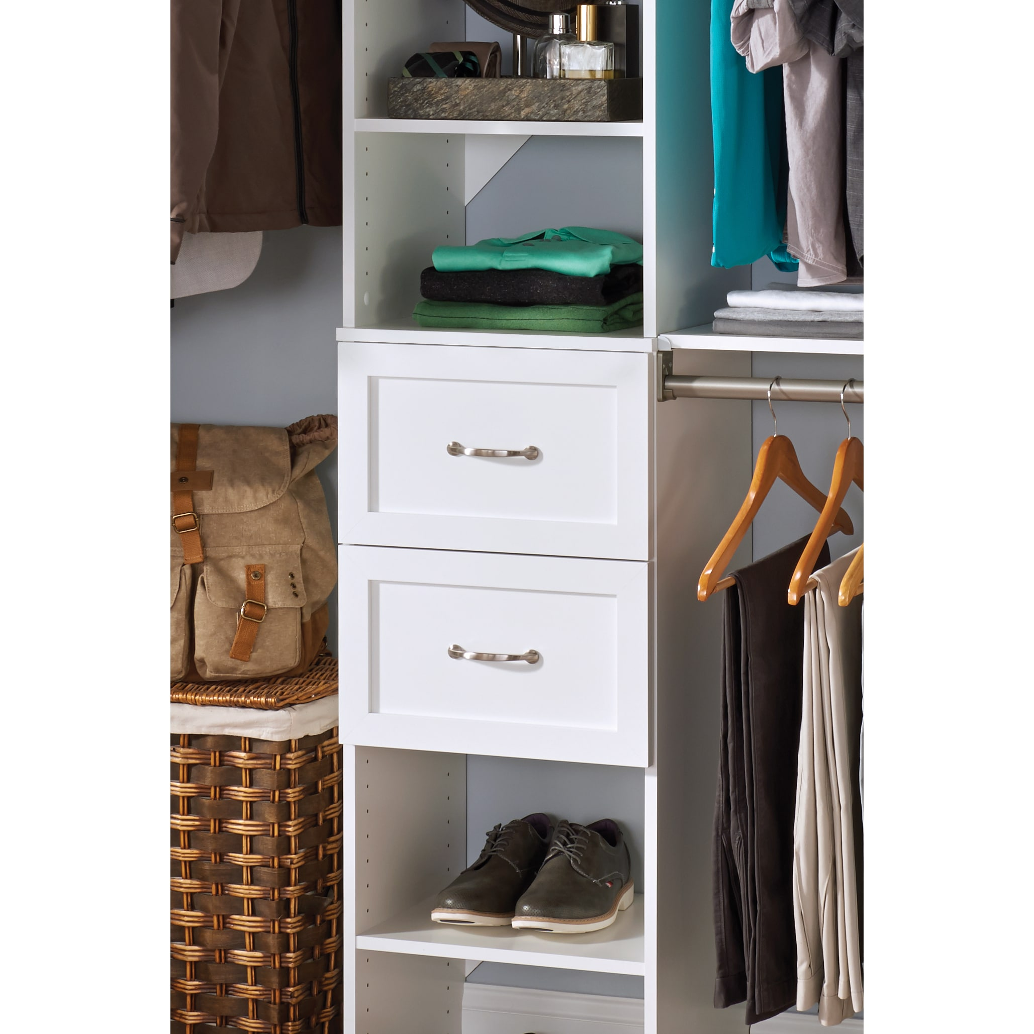 the custom of built with drawers cupboard shelves best professional do closet full in closets size interior chaos organizer solution storage design yourself cabinet and to shelving system your it clothes open bedroom organizers rubbermaid