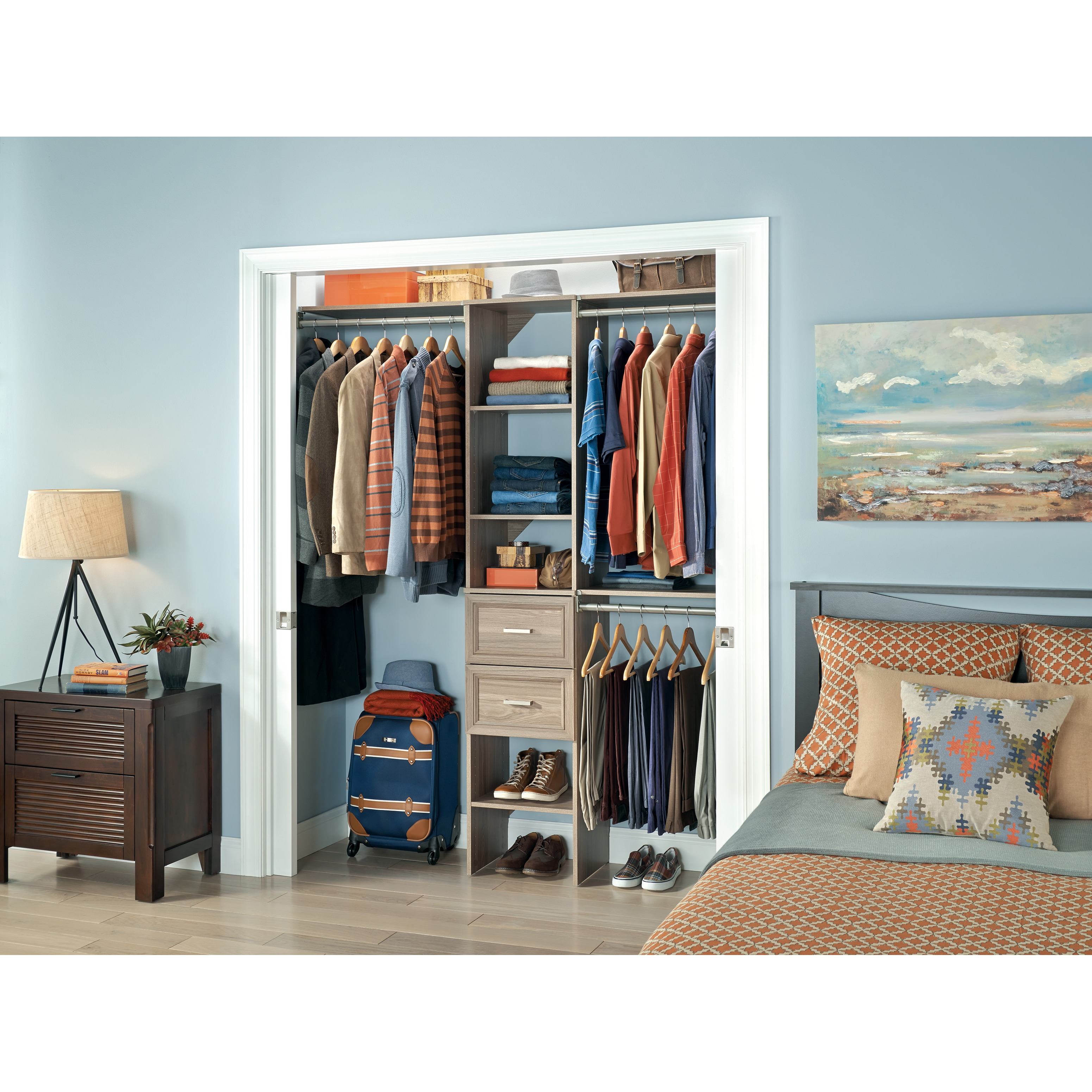 Good ClosetMaid SuiteSymphony 16 Inch Wide Tower Kit   Free Shipping Today    Overstock   20984565