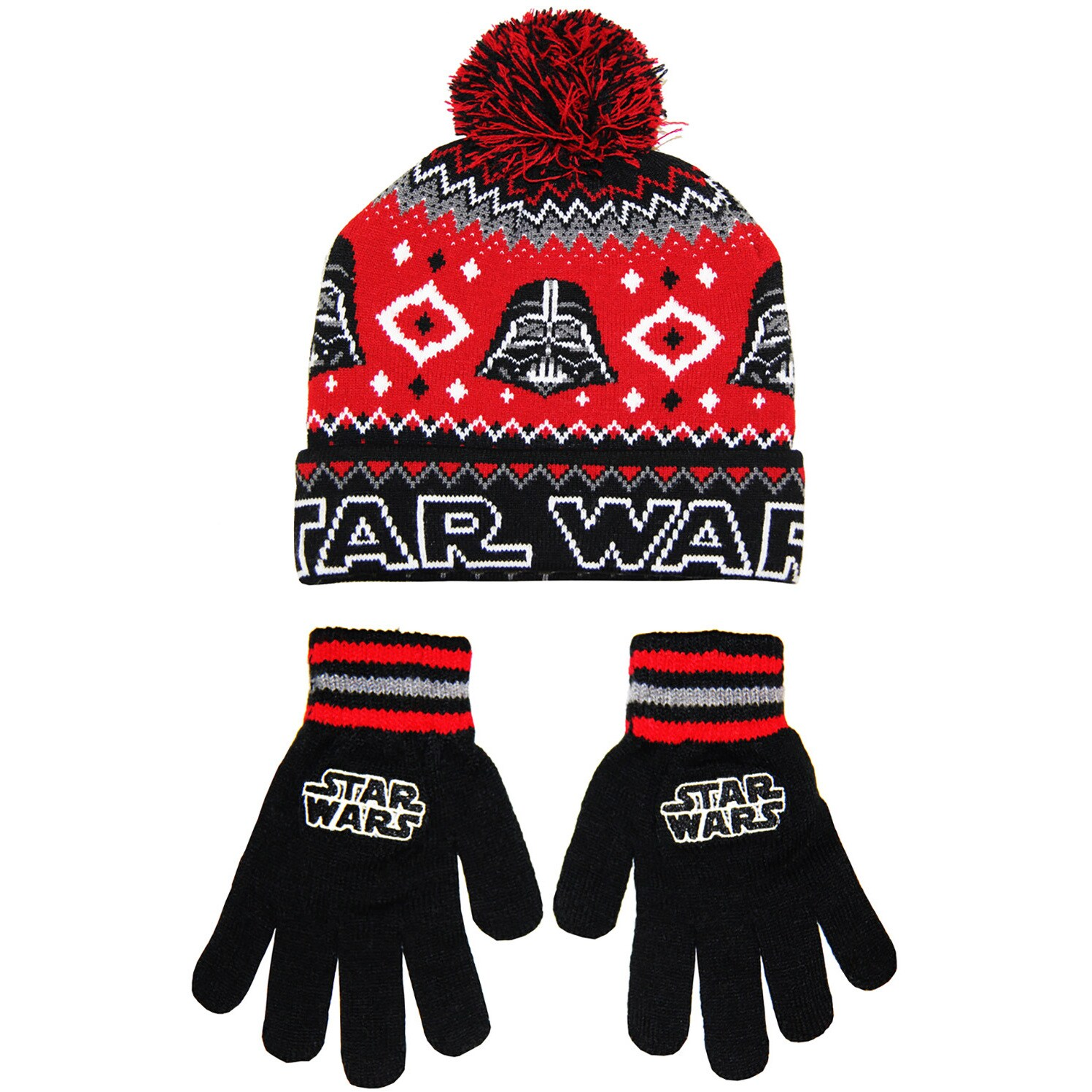 Shop Star Wars Men s Darth Vader Black Acrylic Beanie and Glove Set - Free  Shipping On Orders Over  45 - Overstock.com - 14416922 c05c100b4536