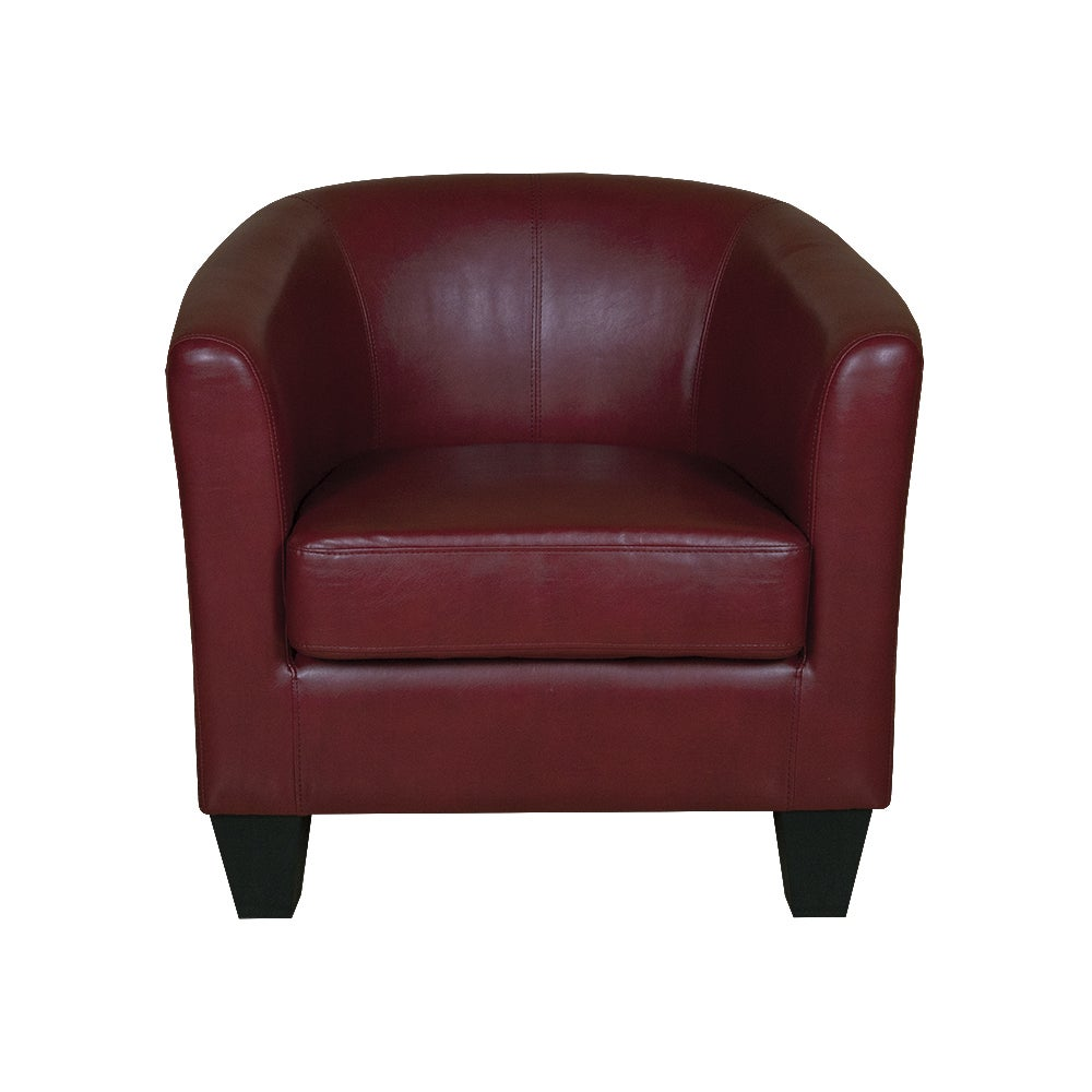 Copper Grove Longwoods Red Bonded Leather Tub Chair Free Shipping Today 20616476