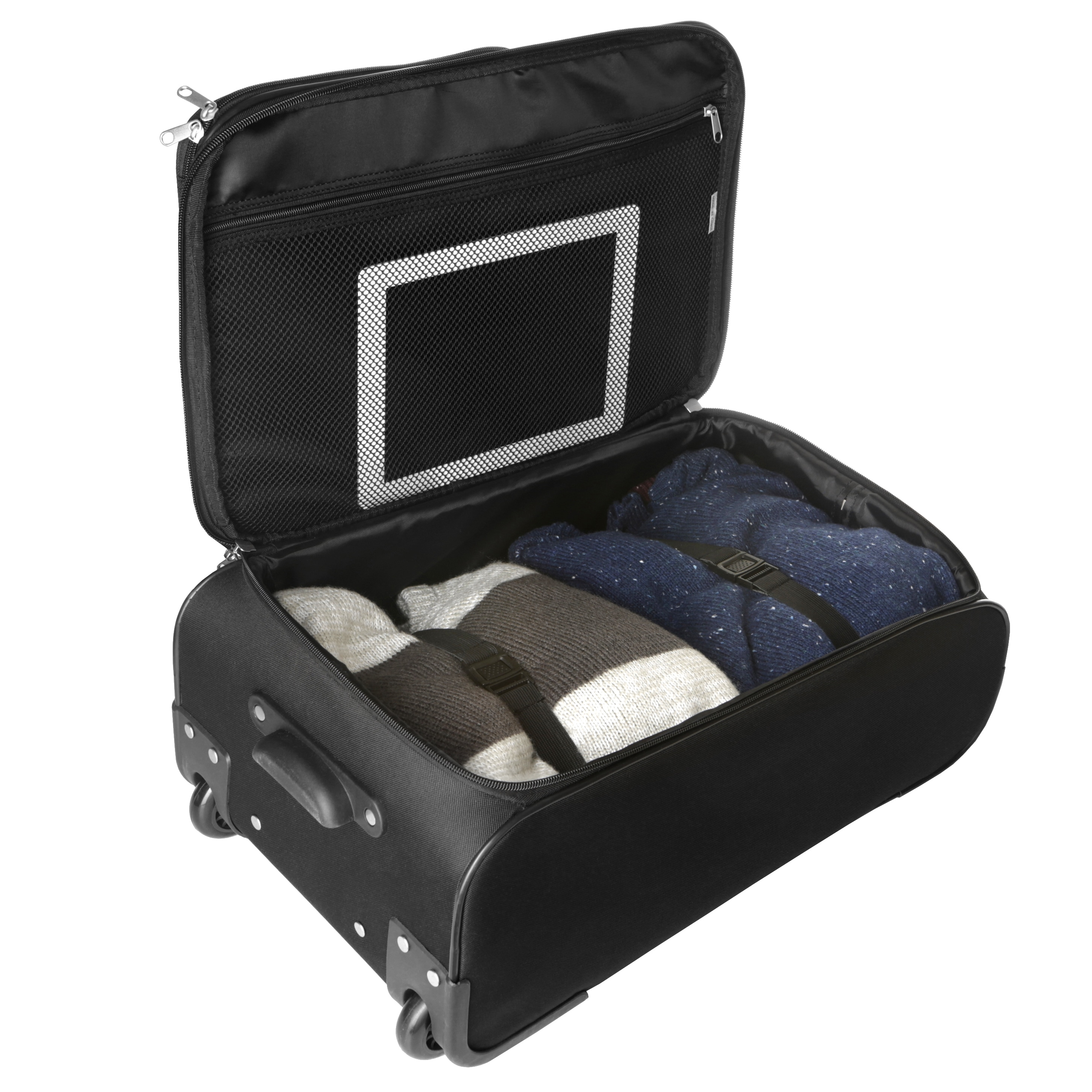 802a2e427ce4 Shop Denco Sports Steadfast 18-inch Chicago Cubs Black Rolling Carry-on  Upright Suitcase - Free Shipping Today - - 14418655
