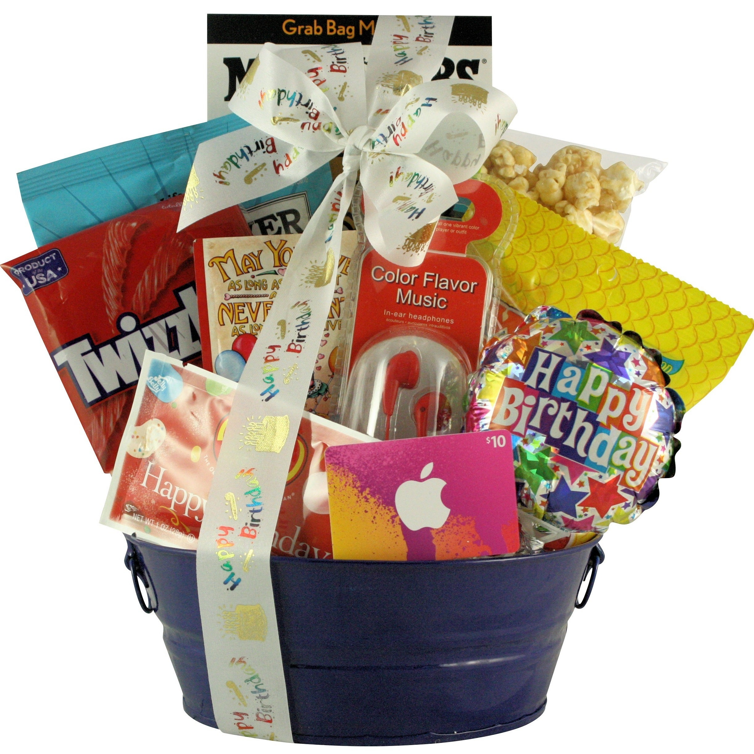 Shop Birthday Tunes Boys Birthday Gift Basket