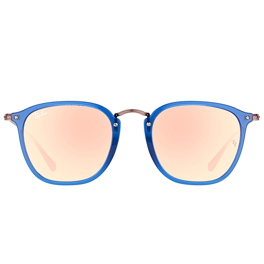 a59e0906af Shop Ray-Ban RB 2448N 62547O Transparent Blue Plastic Square Sunglasses  Copper Flash Mirror Gradient Lens - Free Shipping Today - Overstock -  14420754