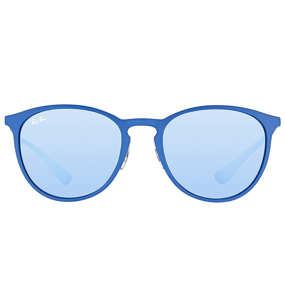 92d3d777eb Shop Ray-Ban RB 3539 90221U Erika Rubber Electric Blue Metal Round  Sunglasses with Grey Flash Mirror Lens - On Sale - Free Shipping Today -  Overstock - ...