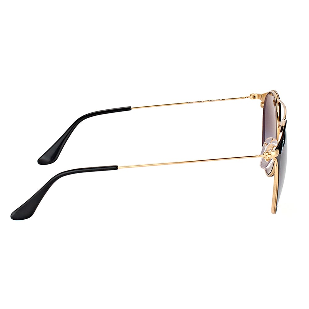 a825820ccc86d2 Shop Ray-Ban RB 3546 187 71 Gold Top Black Metal Round Sunglasses with Grey  Gradient Lens - Free Shipping Today - Overstock.com - 14425491