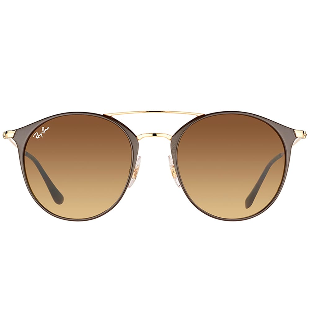 c1e71daeda ... 001 unisex gold frame green lens sunglasses usa shop ray ban rb 3546  900985 gold top brown metal round sunglasses with brown gradient ...