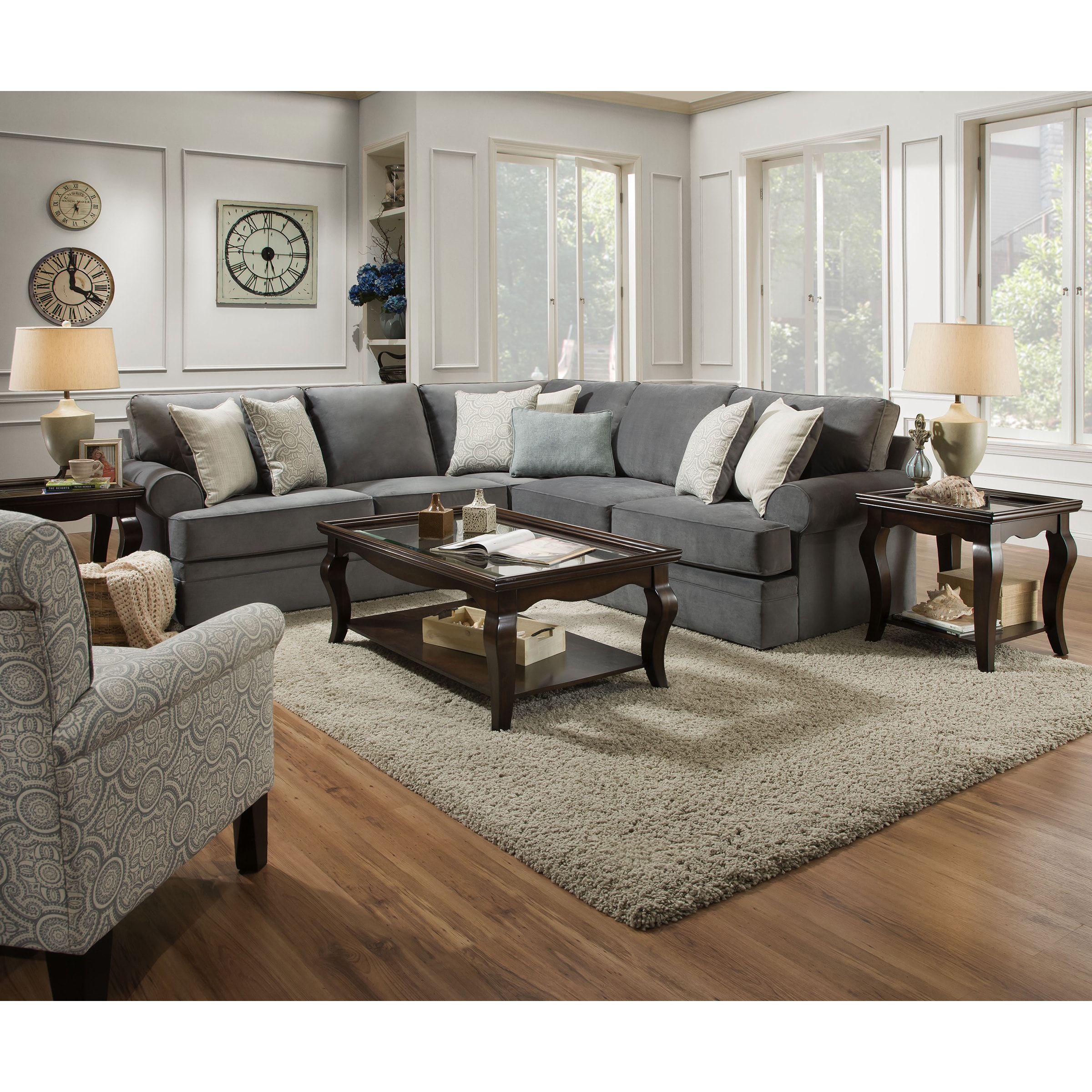 oversize twill only sectional granite simmons weekends grandstand