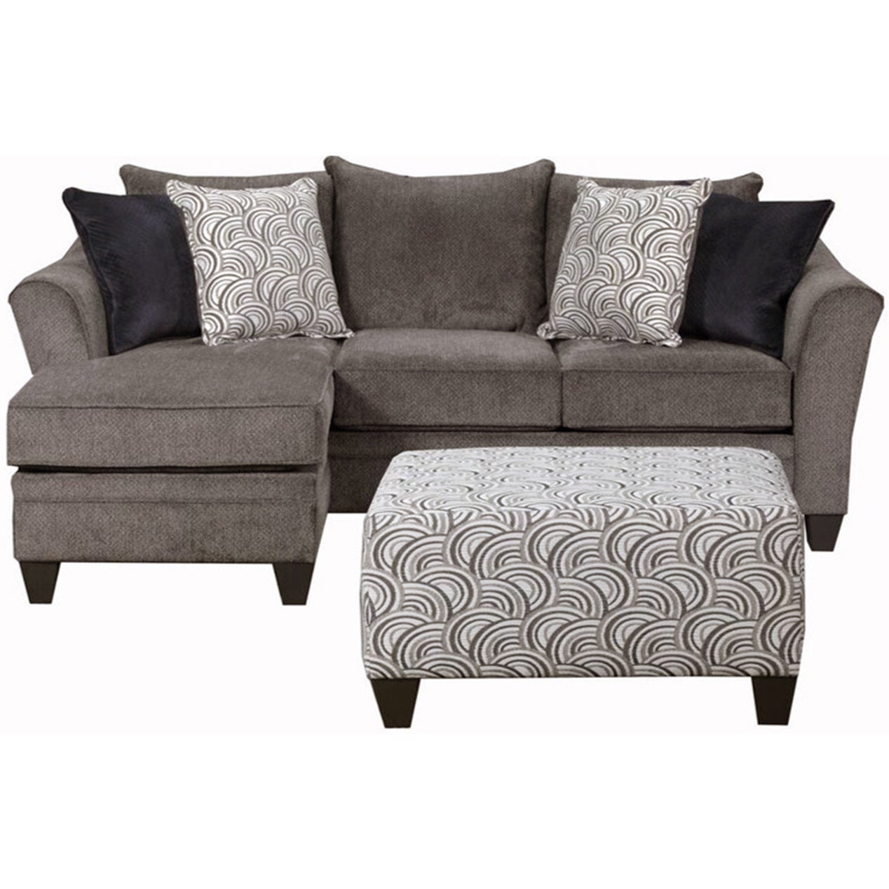 Simmons Upholstery Albany Pewter Sofa Chaise   Free Shipping Today    Overstock   20993460