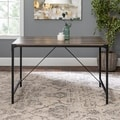 "Rustic Angle Iron 48"" Wood Dining Table - Driftwood - Grey"