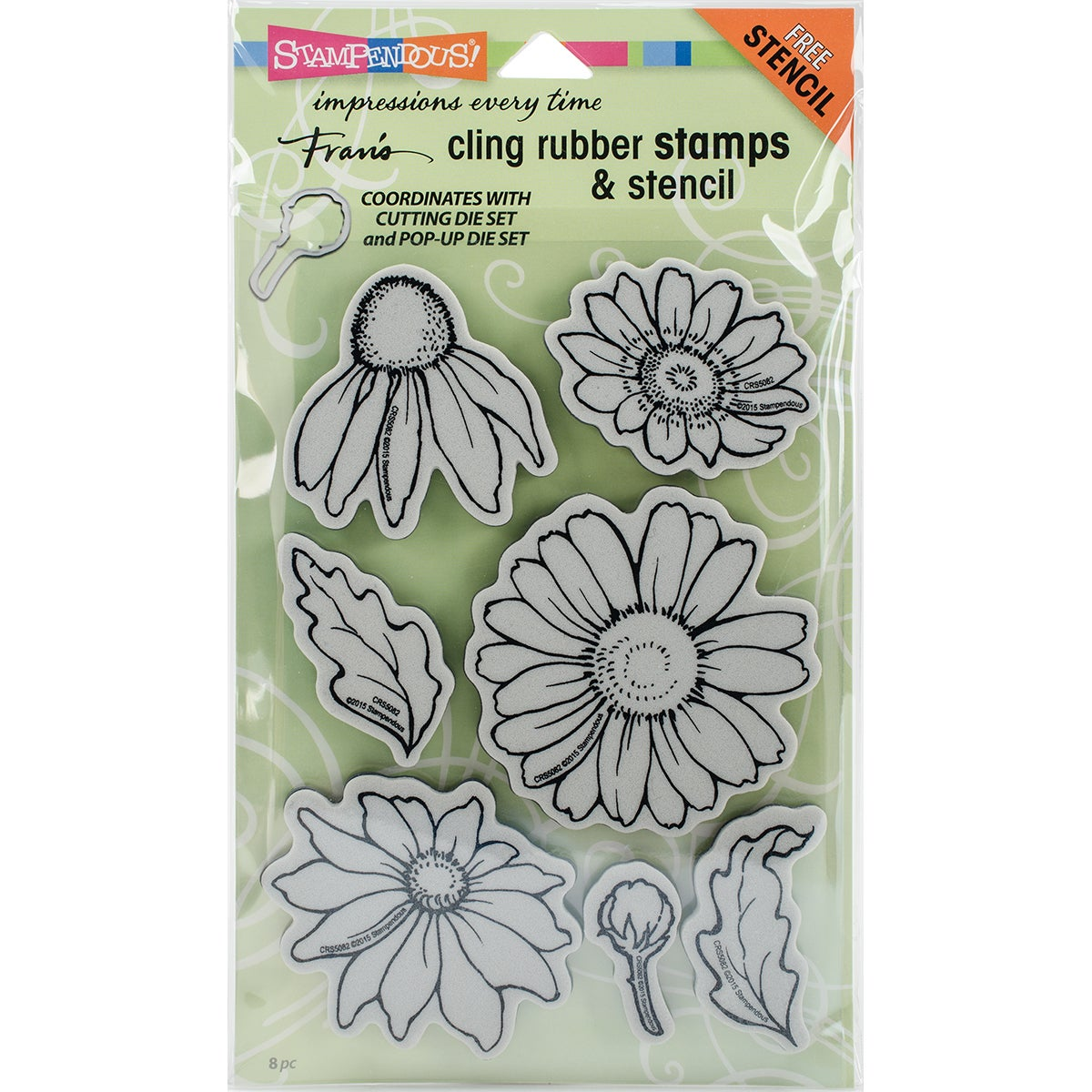 Shop Stampendous Cling Stamps Stencil 5x7 Daisy Mix Free