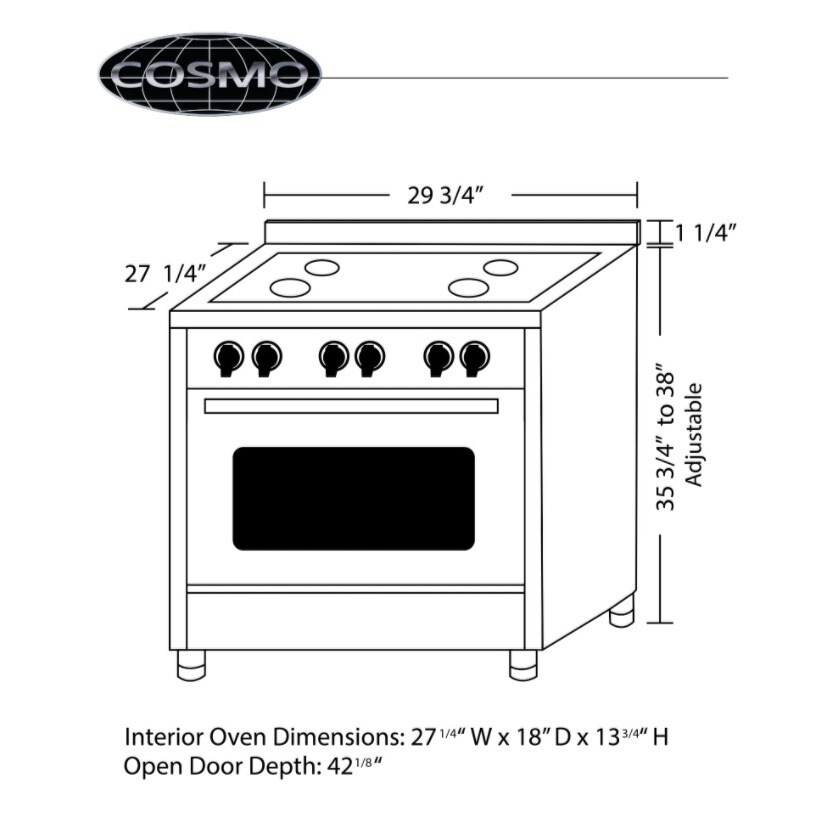 6cf443980c2 Dual Fuel Range with 4 Italian Burners Cast Iron Grates and 4 Function Electric  Oven - Free Shipping Today - Overstock - 14429664