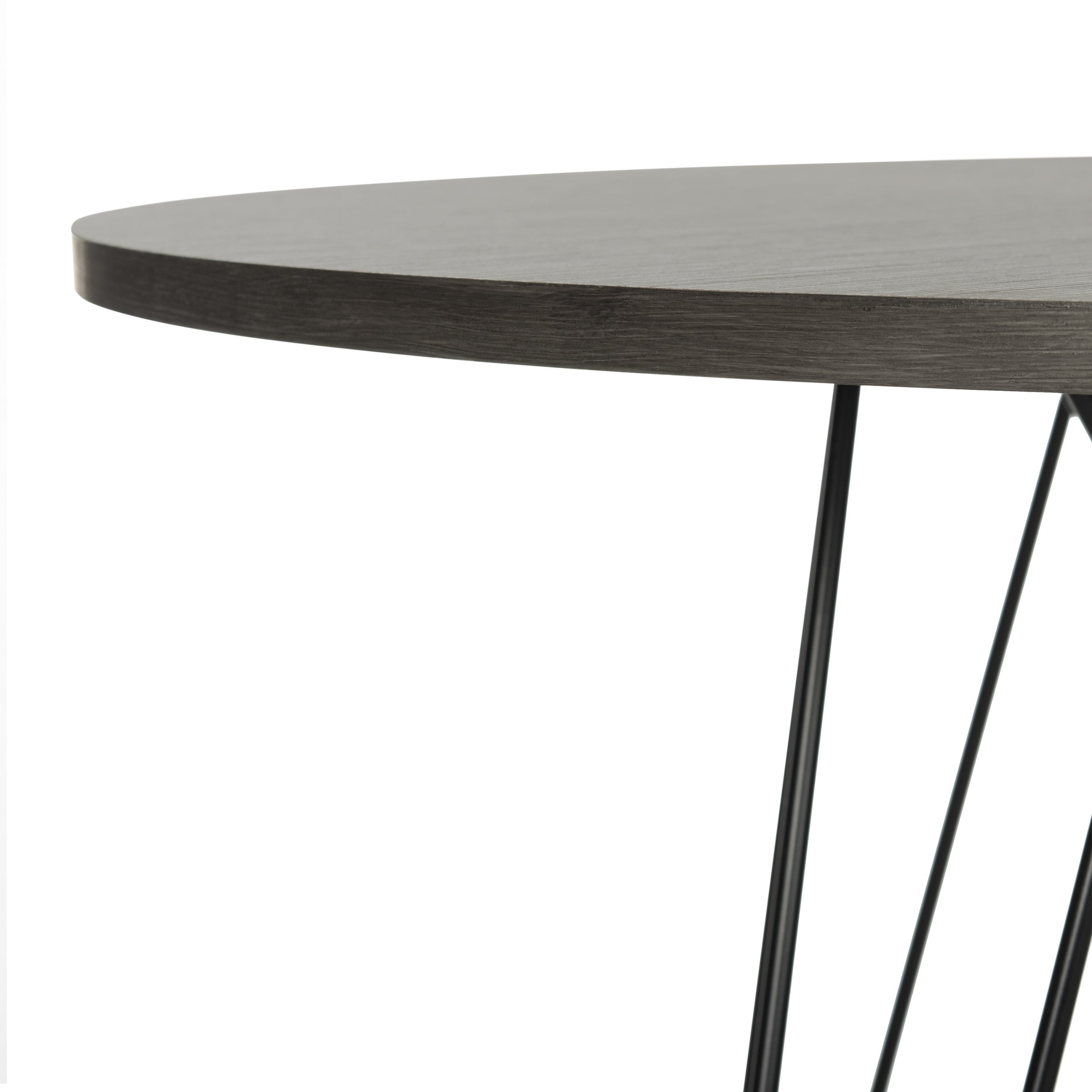 Shop Safavieh Marino Dark Grey / Black Round Dining Table   Free Shipping  Today   Overstock.com   14429848