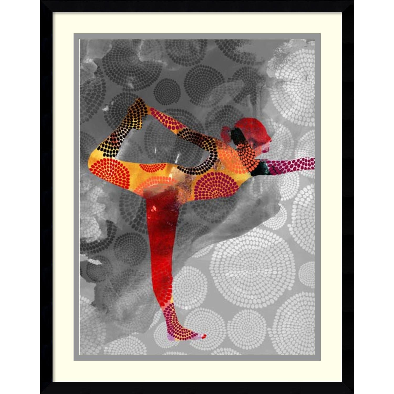 Framed Art Print \'Yoga Pose II\' by Sisa Jasper 23 x 29-inch - Free ...