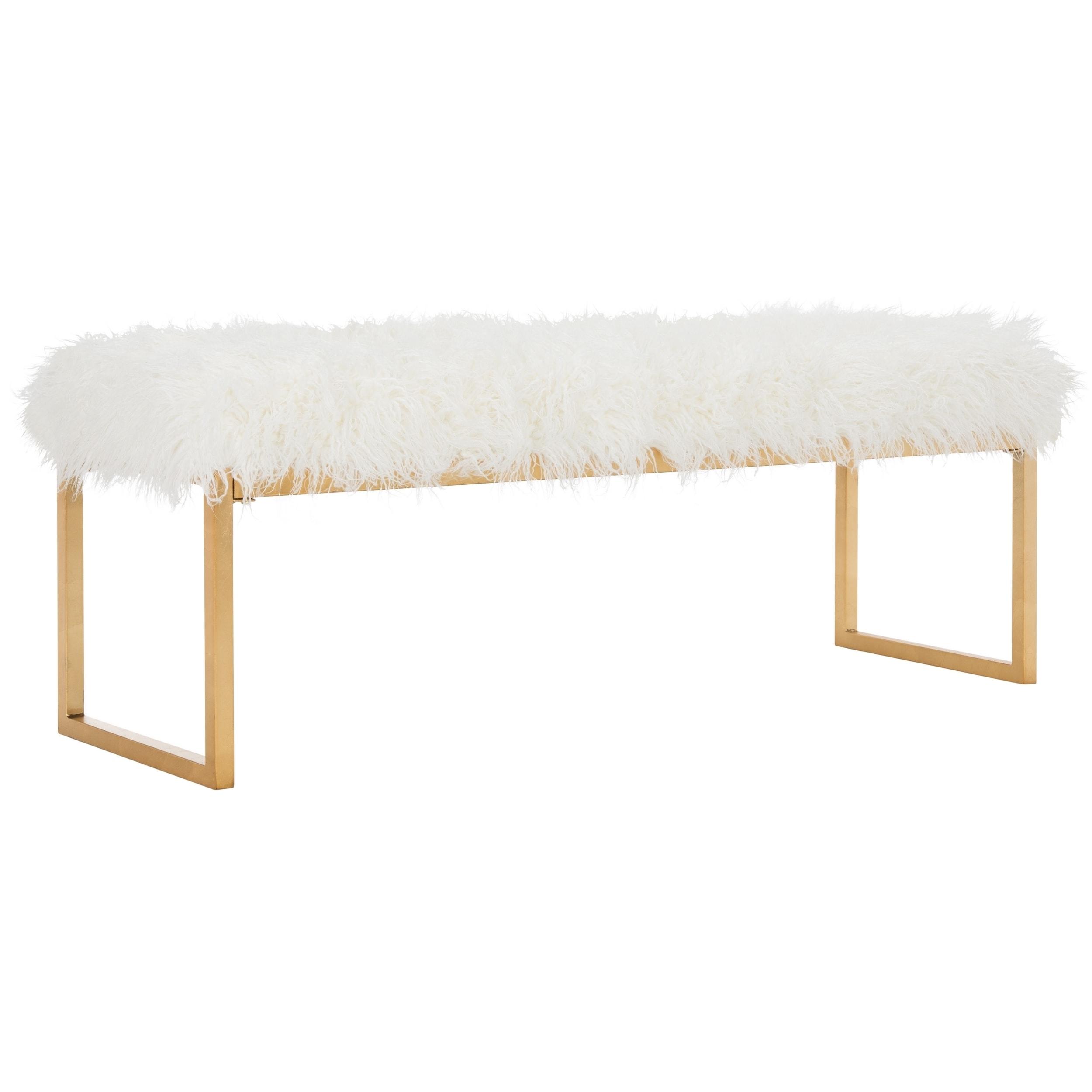 sheepskin bench mag decor safavieh lighting faux mera
