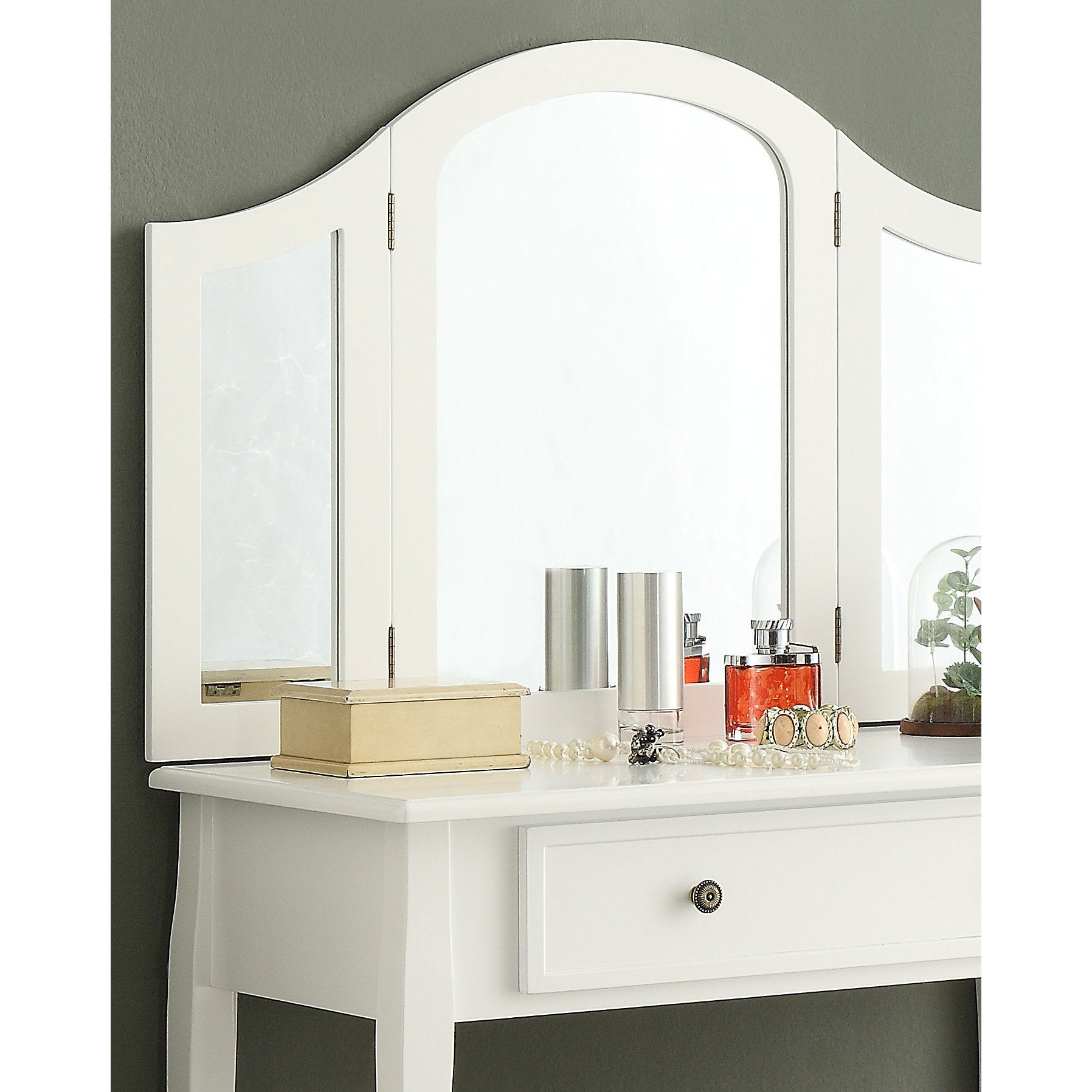Exceptionnel Shop Sanhy White Wooden Vanity, Make Up Table And Stool Set   Free Shipping  Today   Overstock.com   14430696