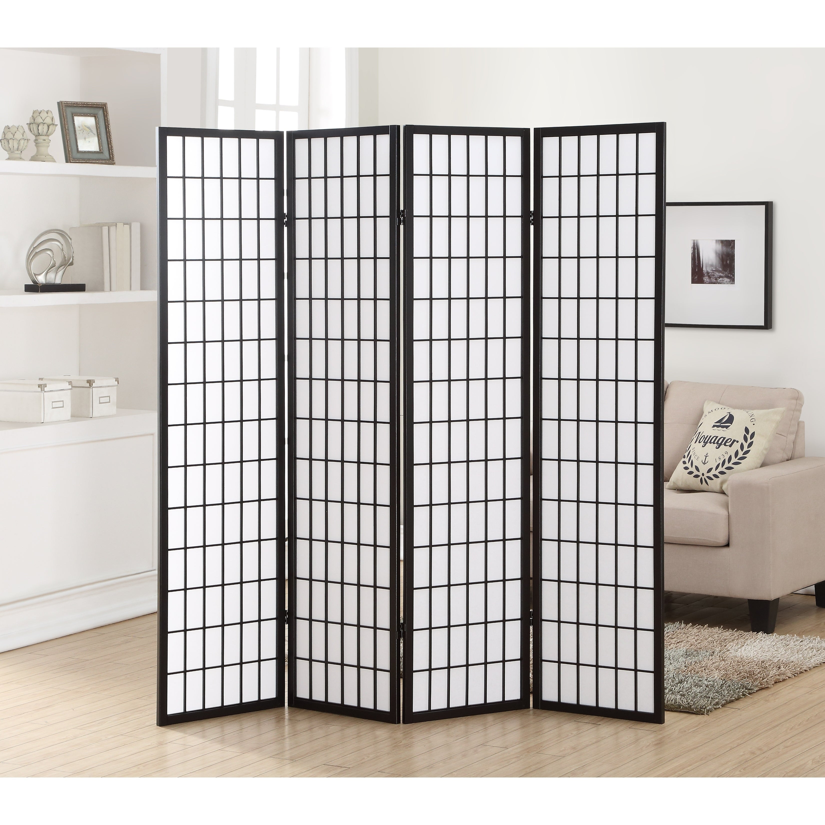 Hoceima Oriental Shoji 4 Panel Room Divider On Sale Overstock 14430760