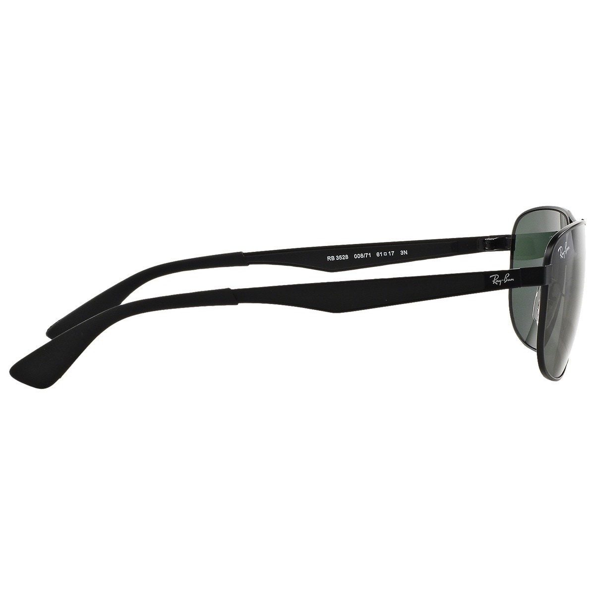 11f0658ffdbe7 Shop Ray-Ban RB3528 006 71 Black Frame Green Classic 61mm Lens Sunglasses -  Free Shipping Today - Overstock - 14431344