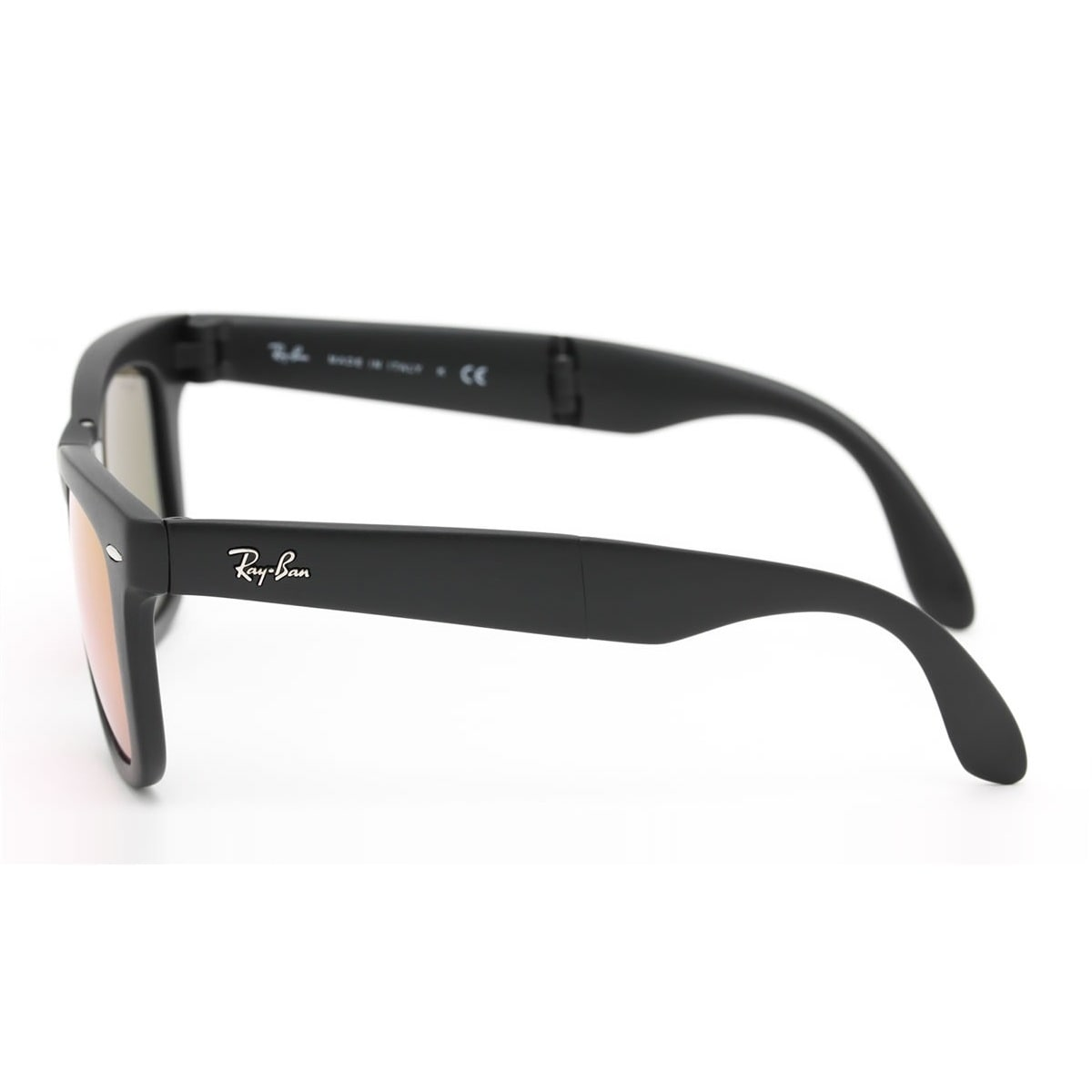 8f7d980f8b2 Shop Ray-Ban RB4105 601S4T Wayfarer Folding Black Frame Cyclamen Flash 50mm  Lens Sunglasses - Free Shipping Today - Overstock - 14431347