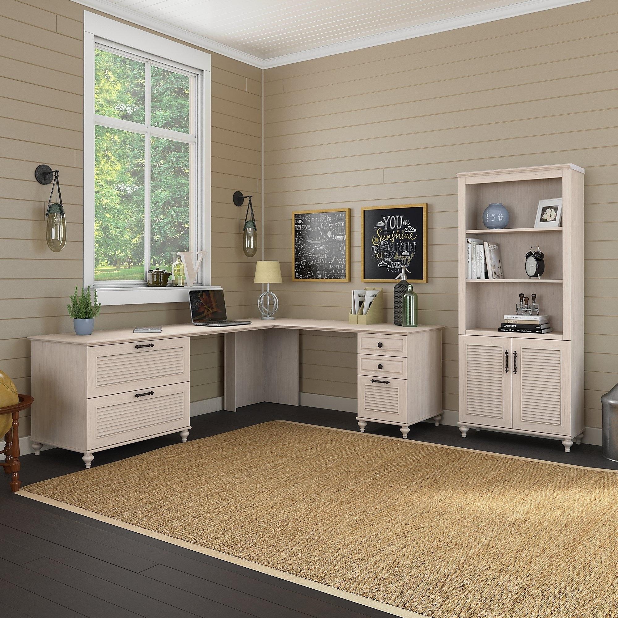 Kathy ireland office volcano dusk 68w x 91d l shaped desk office suite