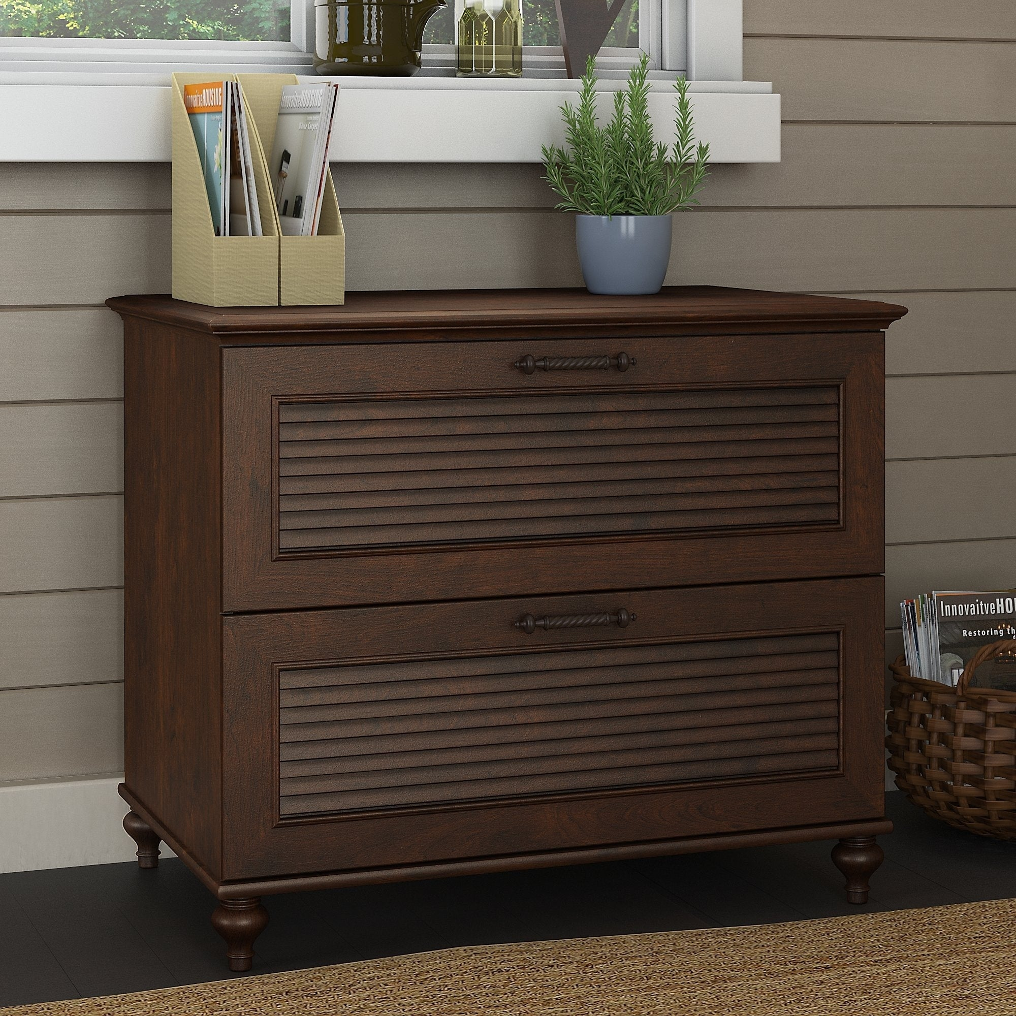 Shop kathy ireland office by bush furniture volcano dusk lateral cabinet free shipping today overstock com 14434997