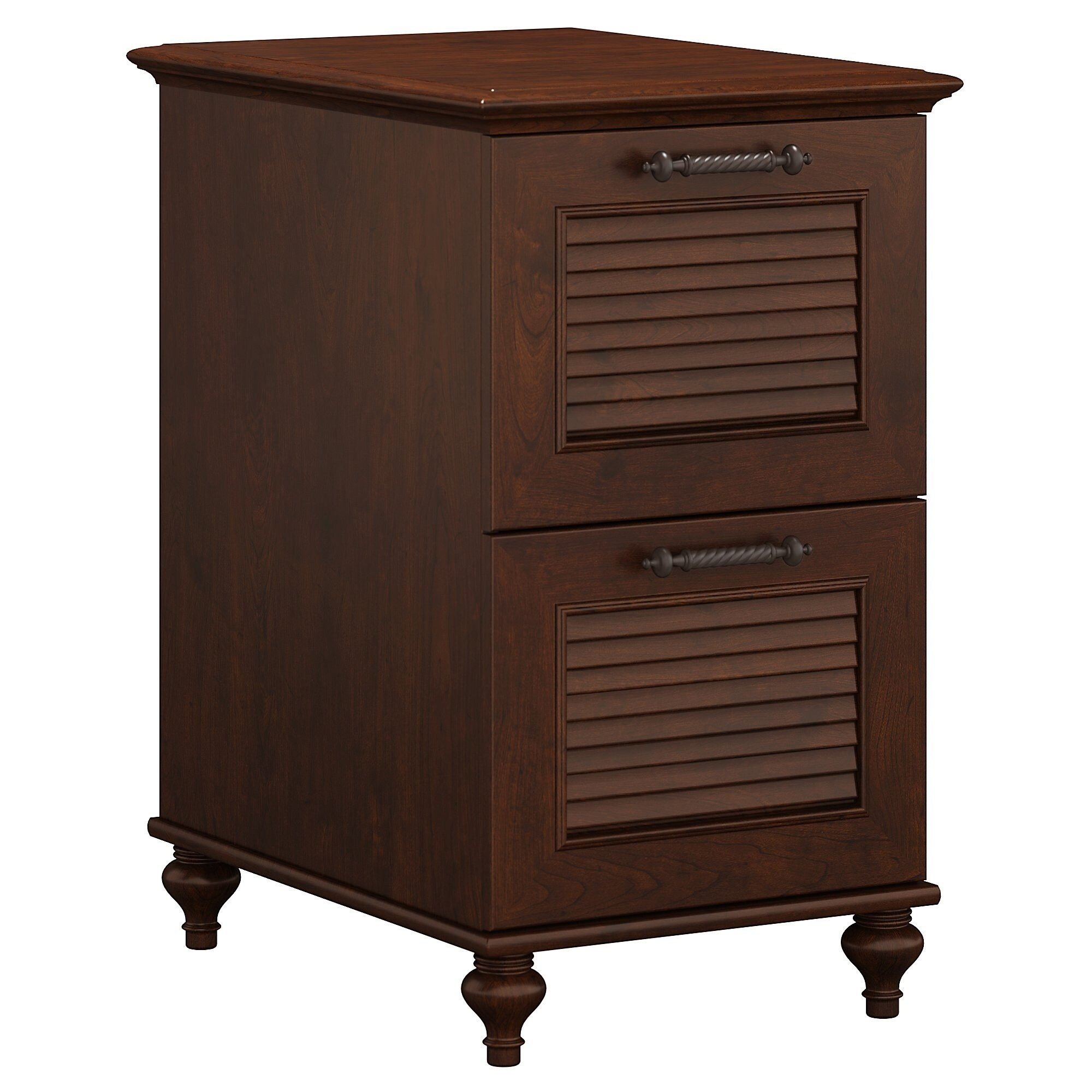 Kathy Ireland Office Volcano Dusk 2 Drawer File Cabinet In Cherry Free Shipping Today 14434999