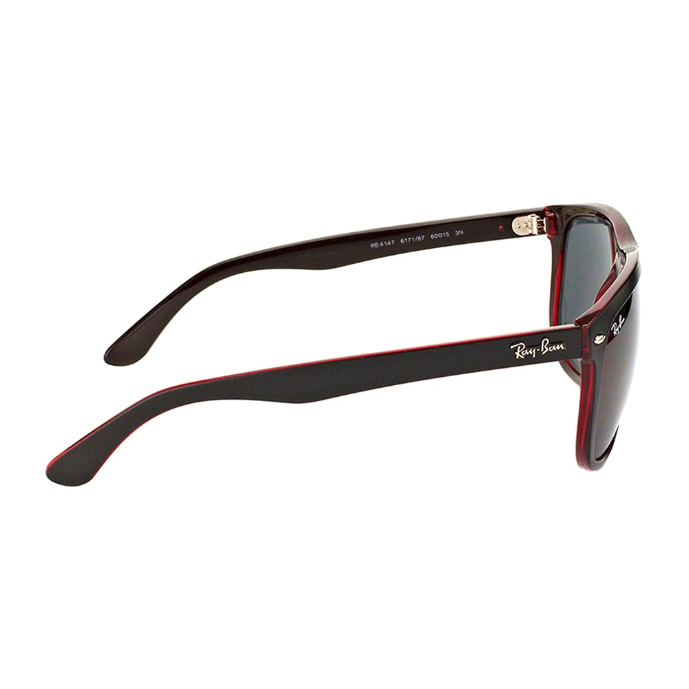 63f8fe1b37e Shop Ray-Ban RB 4147 617187 Matte Black On Red Crystal Plastic Square  Sunglasses with Dark Grey Lens - Free Shipping Today - Overstock - 14441538