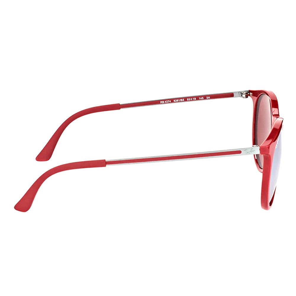 0ee6d7cb2d Shop Ray-Ban RB 4274 6261B5 Bordo  Plastic Round Sunglasses with Pink Silver  Mirror Lens - Free Shipping Today - Overstock - 14441564