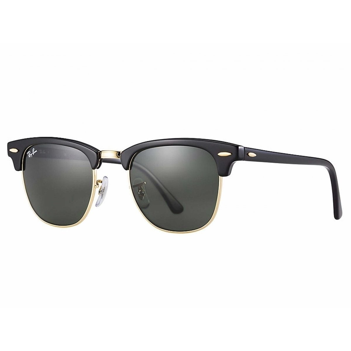 9fd35abf90 Ray-Ban RB3507 136 N5 Clubmaster Aluminum Black Frame Polarized Green 51mm  Lens Sunglasses