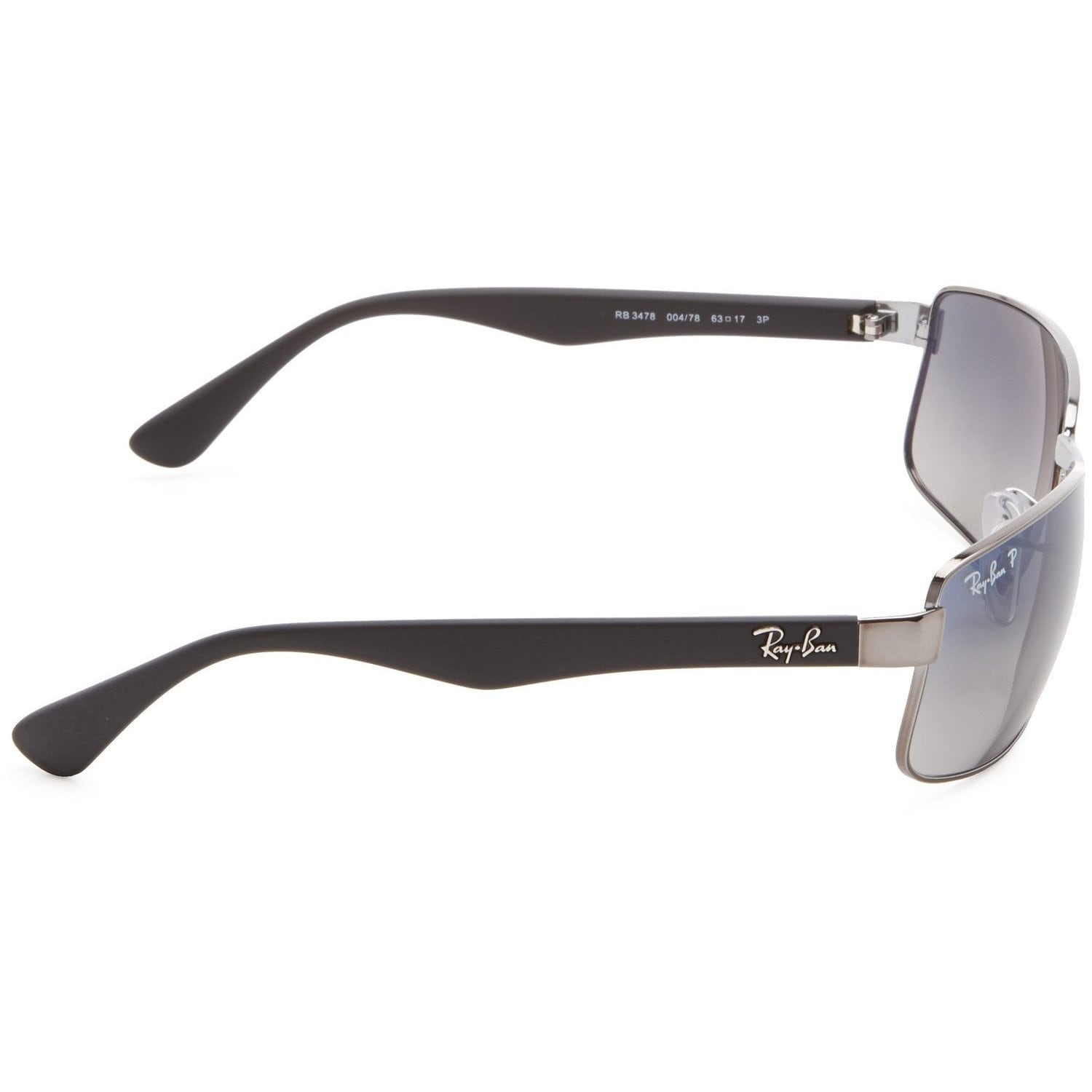 5f9a95cf4f Shop Ray-Ban RB3478 004 78 Gunmetal Black Frame Polarized Blue Grey Gradient  63mm Lens Sunglasses - Free Shipping Today - Overstock - 14442251