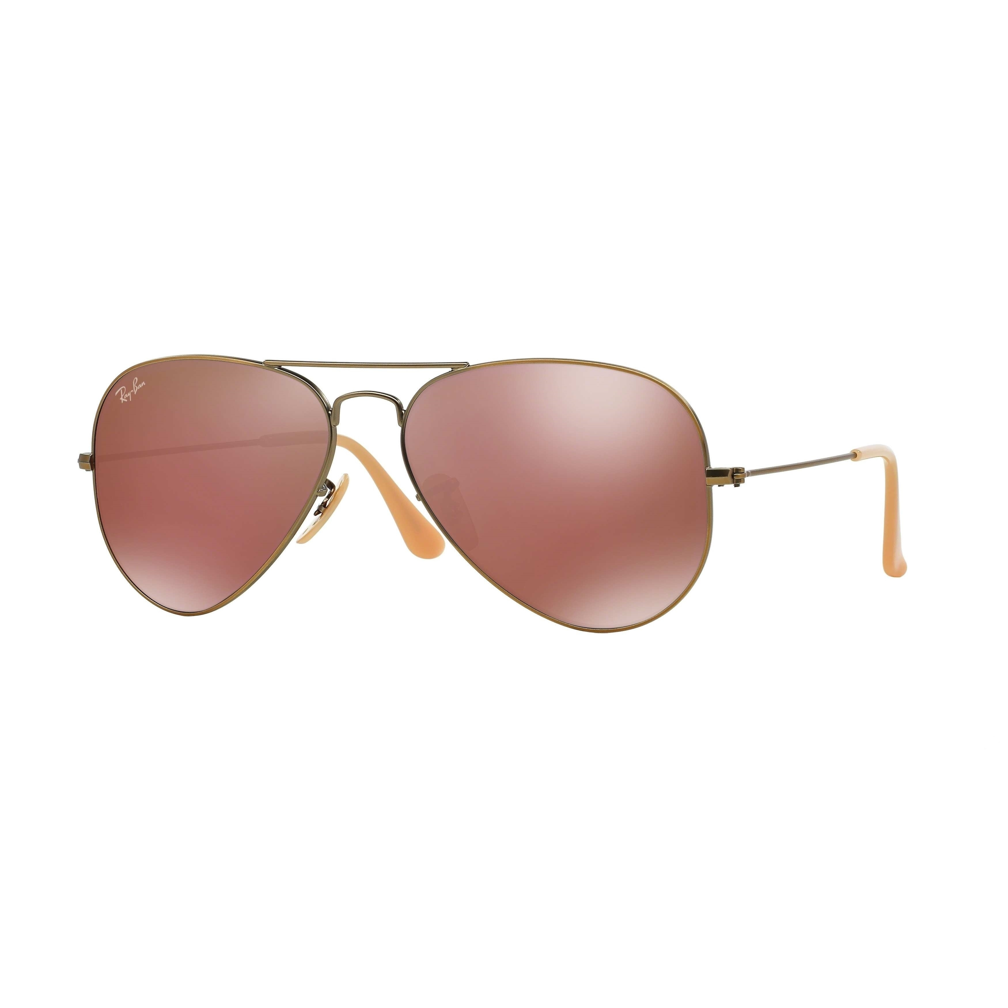 9ec105ea54 Shop Ray-Ban RB3025 167 2K Aviator Flash Lenses Bronze-Copper Frame Red  Mirror 55mm Lens Sunglasses - Free Shipping Today - Overstock - 14442274
