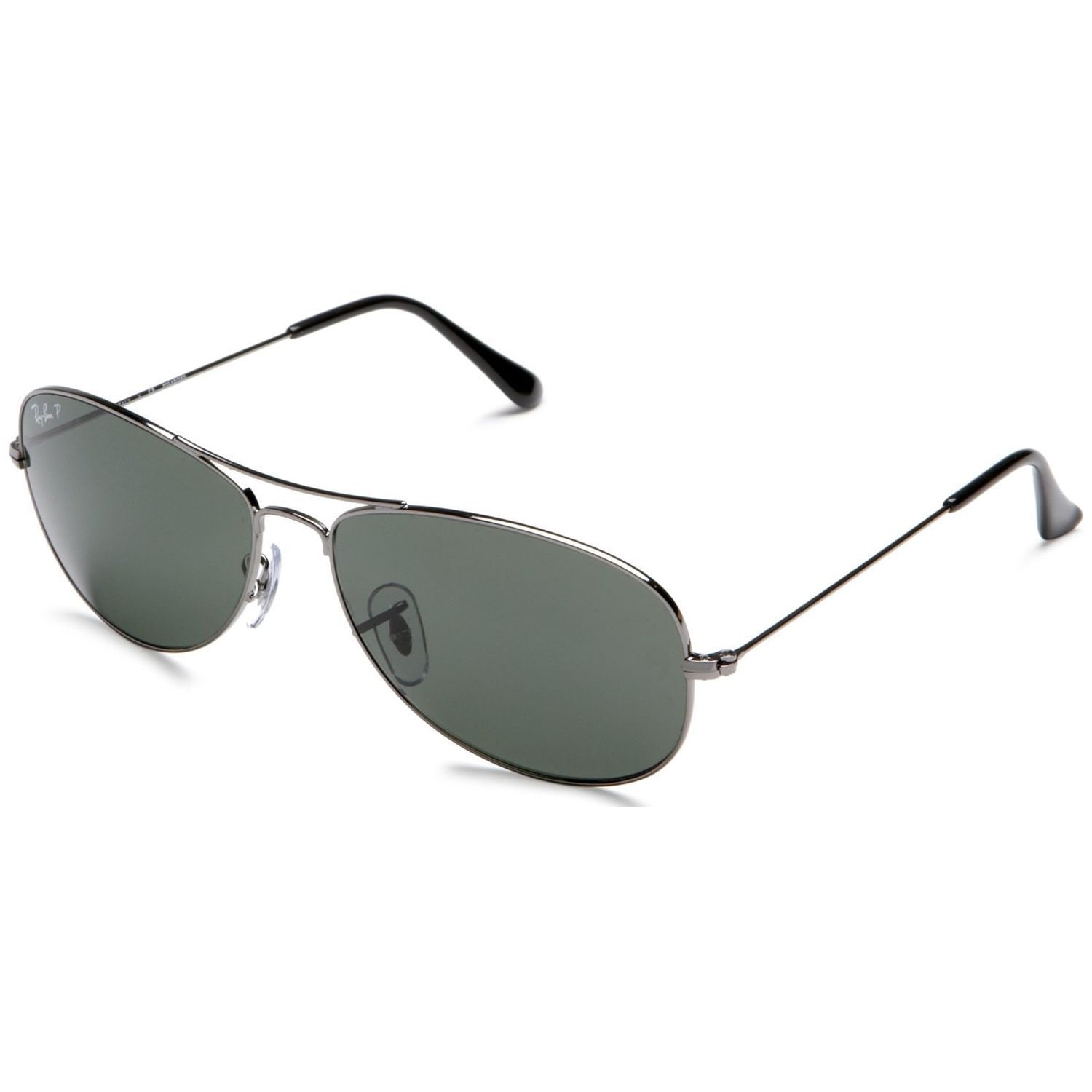 0a0f3ff6be Ray-Ban RB3362 004 58 Cockpit Gunmetal Frame Polarized Green 59mm Lens  Sunglasses