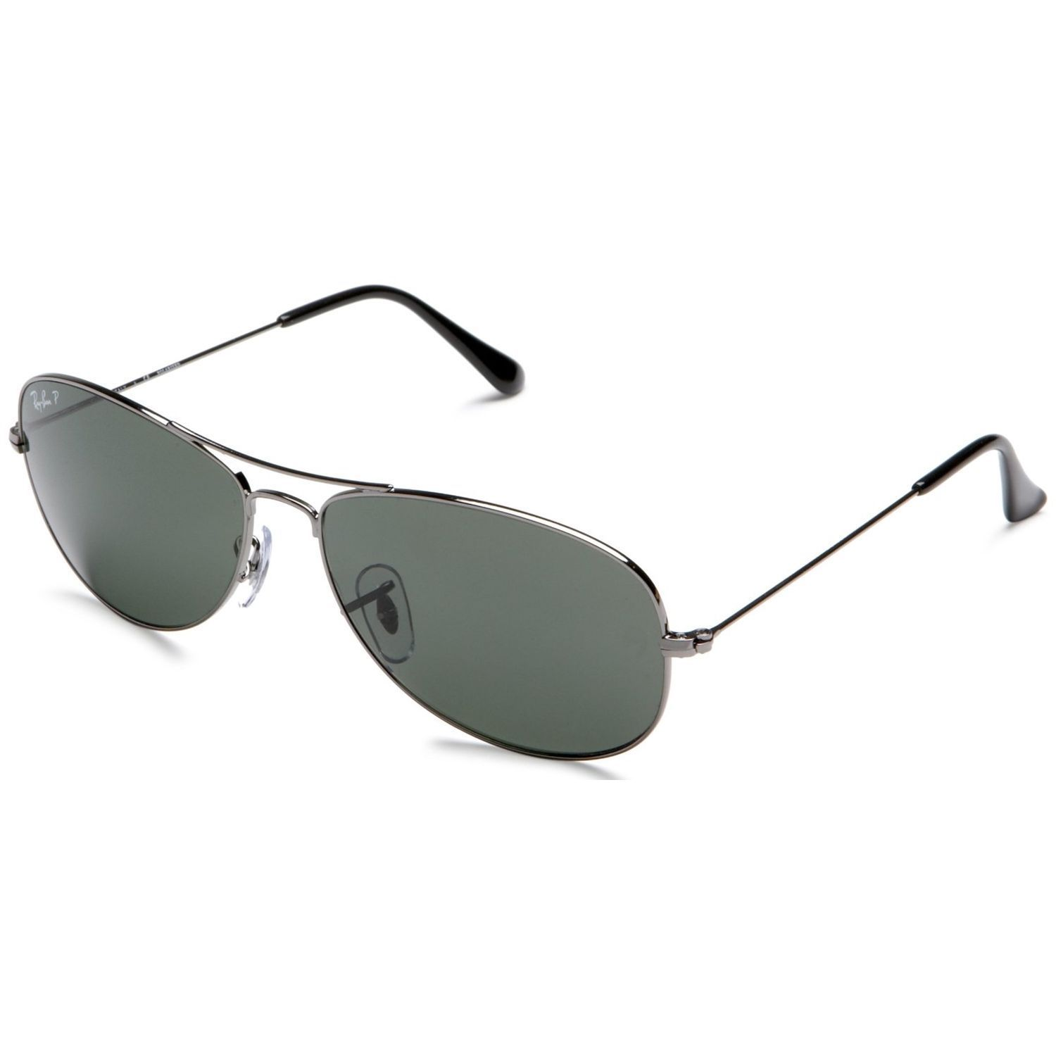 28c704ca06 Ray-Ban RB3362 004 58 Cockpit Gunmetal Frame Polarized Green 59mm Lens  Sunglasses