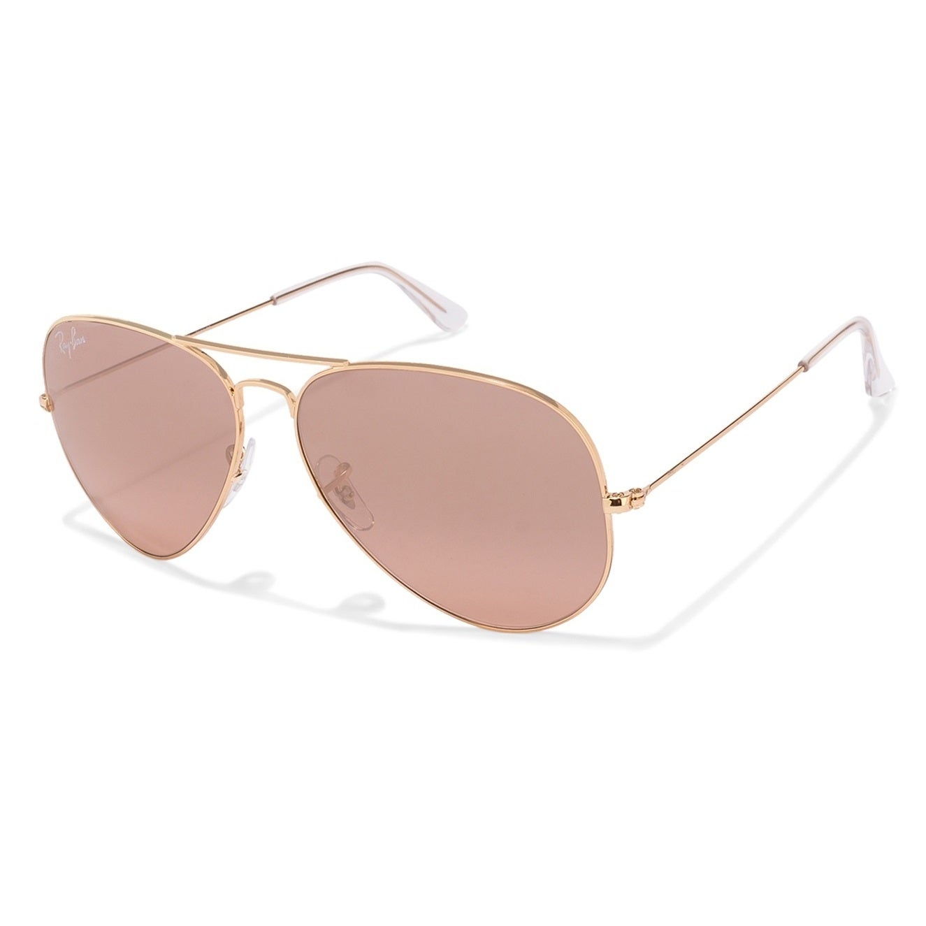 b775c34676d Shop Ray-Ban RB3025 001 3E Aviator Gradient Gold Frame Silver Pink Mirror  62mm Lens Sunglasses - Ships To Canada - Overstock.ca - 14442344
