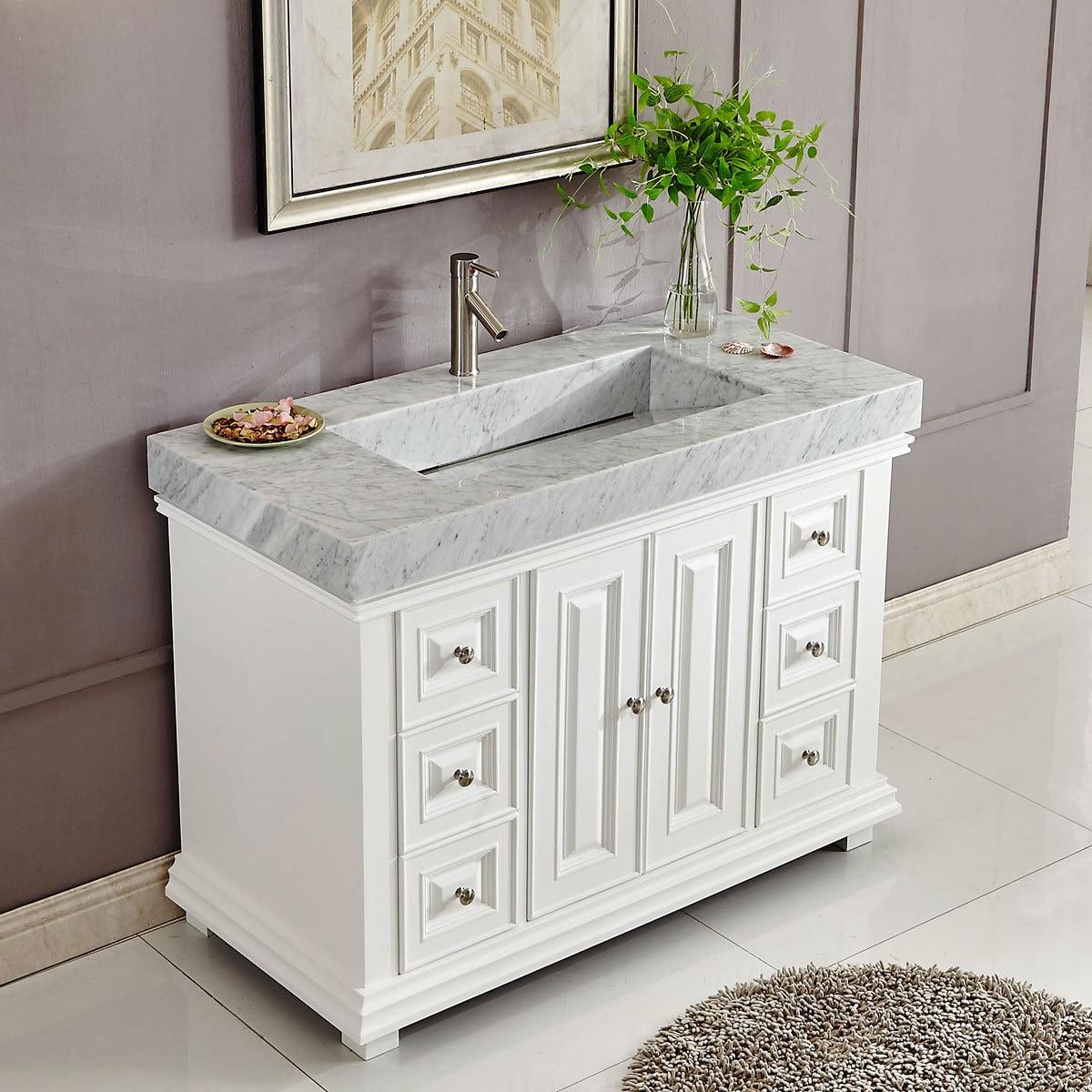 Shop Silkroad Exclusive 48-inch Contemporary Bathroom Vanity Single ...