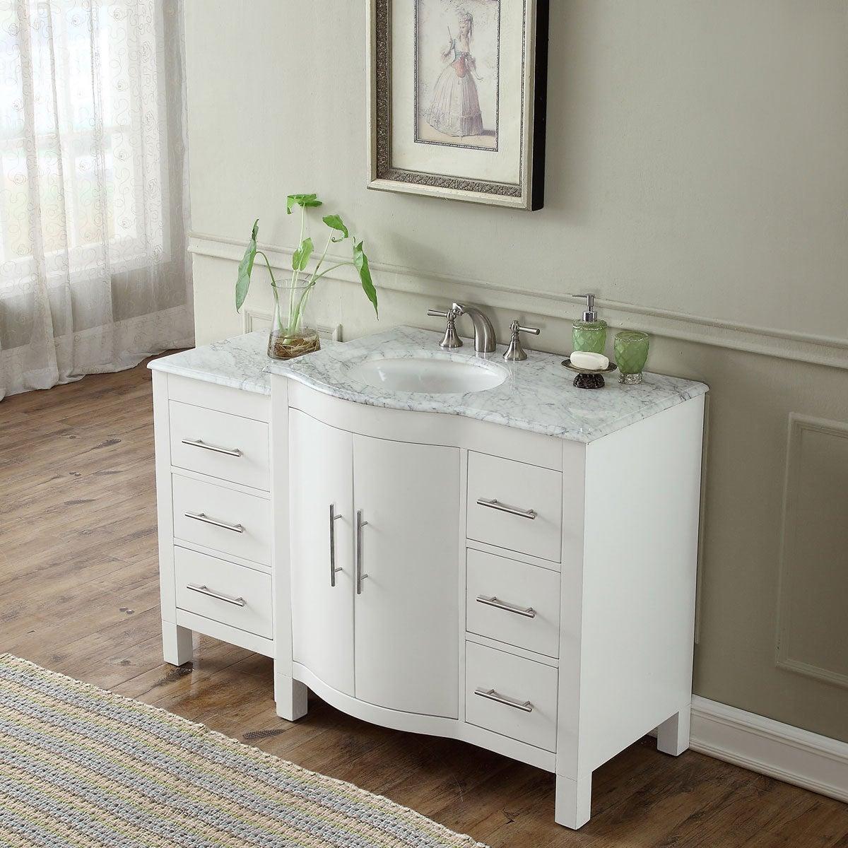 Silkroad Exclusive 53 5 Contemporary Bathroom Vanity Single Sink Cabinet Free Shipping Today 14443145