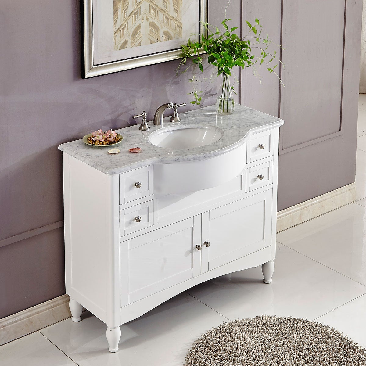 contemporary bathroom furniture. Silkroad Exclusive 45-inch Contemporary Bathroom Vanity Single Sink Cabinet - Free Shipping Today Overstock 21007434 Furniture S