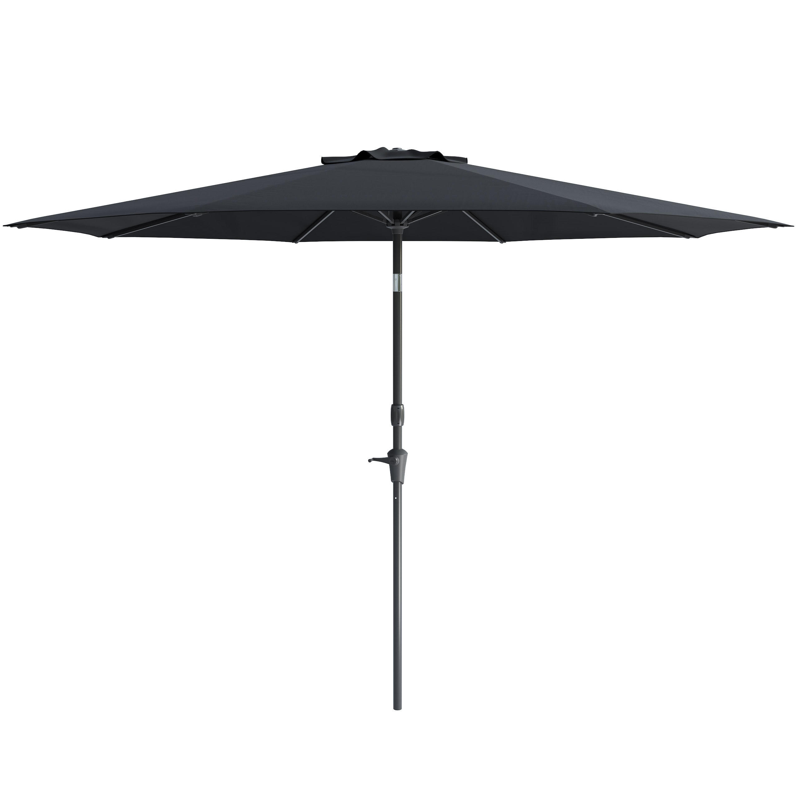 luxury push umbrellas new outdoor mounted umbrella market patioliving tilt patio aluminum table windproof button wall of crank
