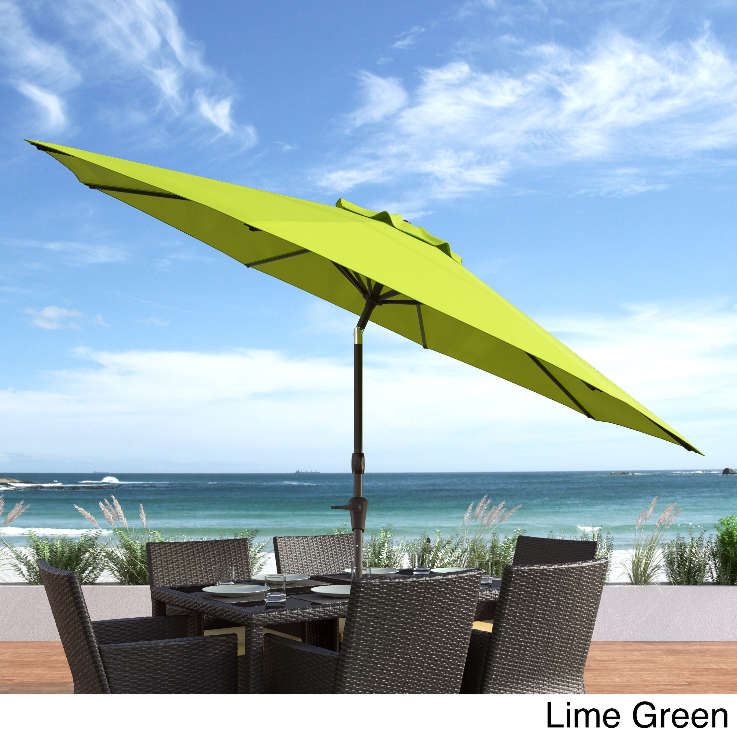 Shop CorLiving UV And Wind Resistant Tilting Patio Umbrella   Free Shipping  Today   Overstock.com   14444344