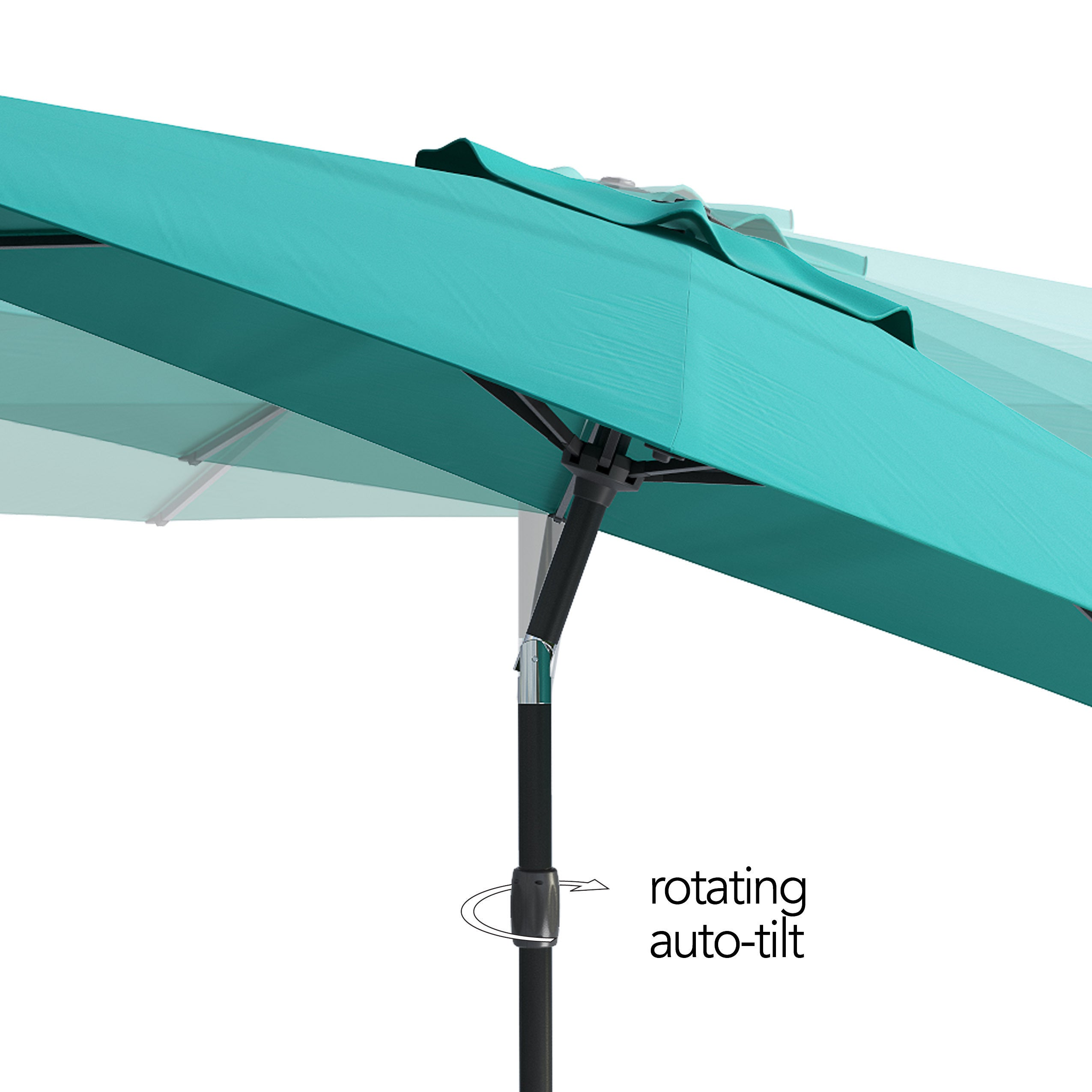 Corliving Uv And Wind Resistant Tilting Patio Umbrella Free Shipping Today 14444344