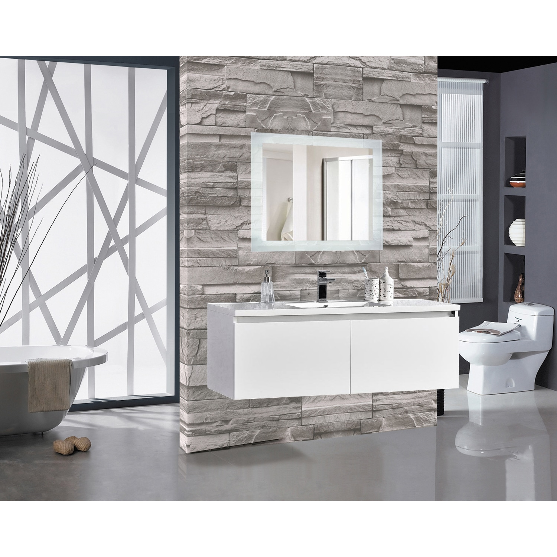 Shop Encore LED Illuminated Bathroom Mirror - On Sale - Free ...