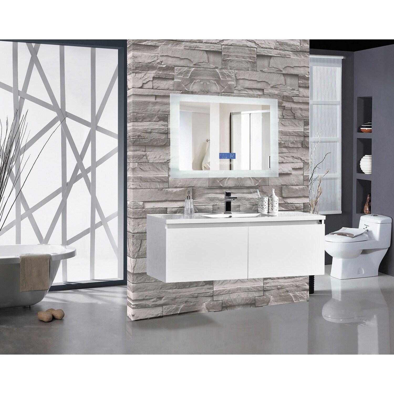 Encore BLU102 LED Illuminated Bathroom Mirror with Built-In ...