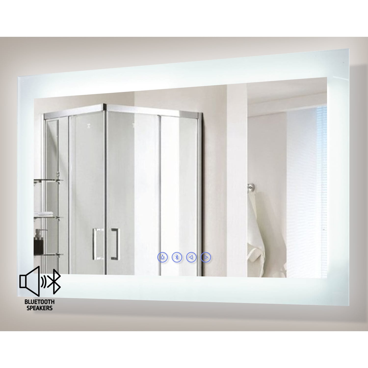 Encore BLU103 LED Illuminated Bathroom Mirror with Built-In ...