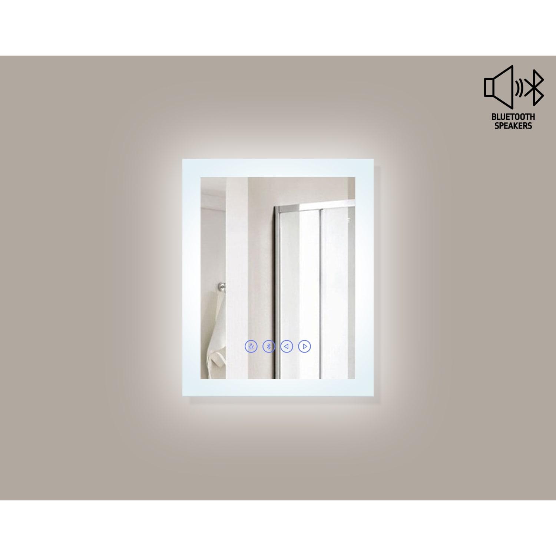 Shop Encore BLU103 LED Illuminated Bathroom Mirror with Built-In ...