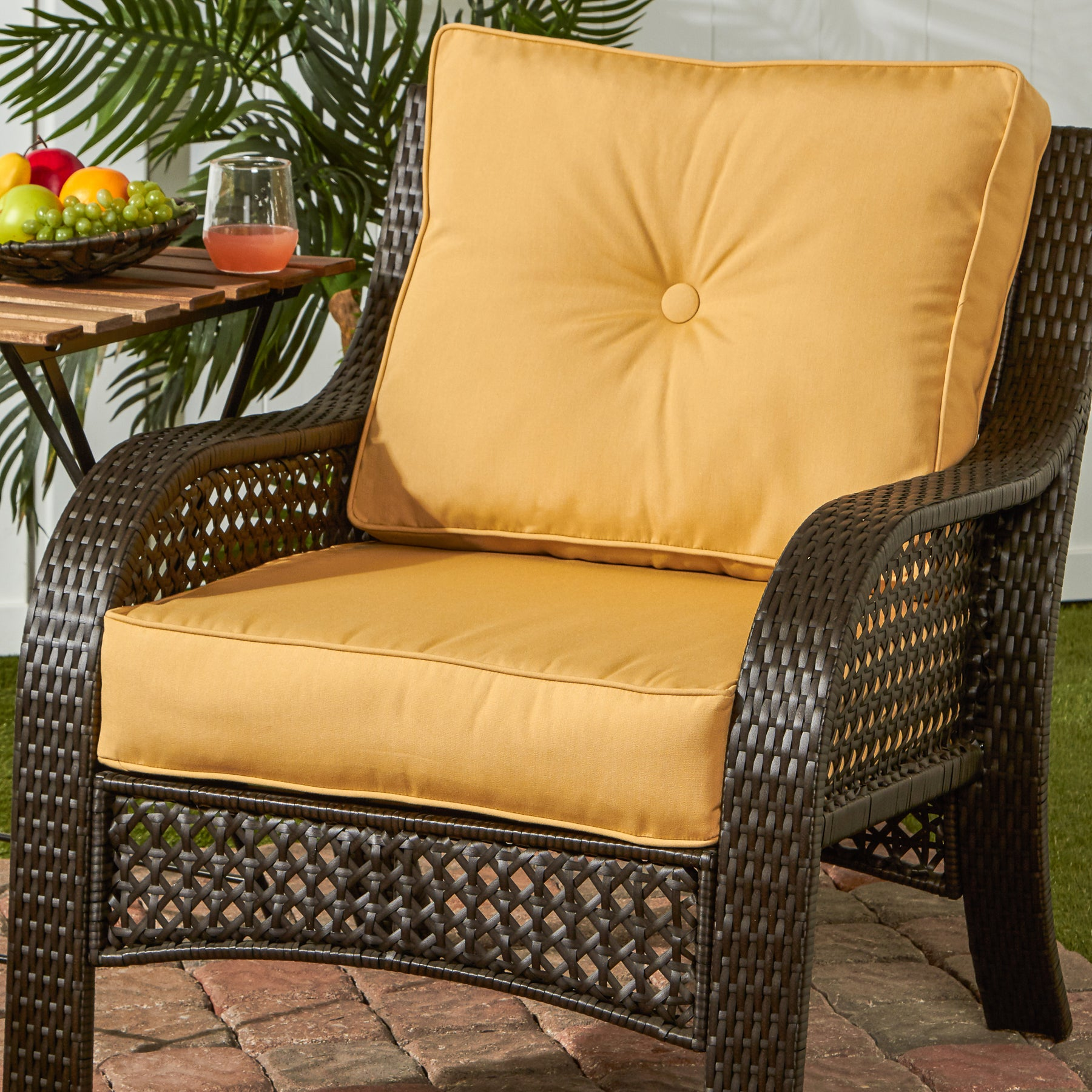 Greendale Deep Seat Outdoor Cushion Set in Sunbrella Fabric Free