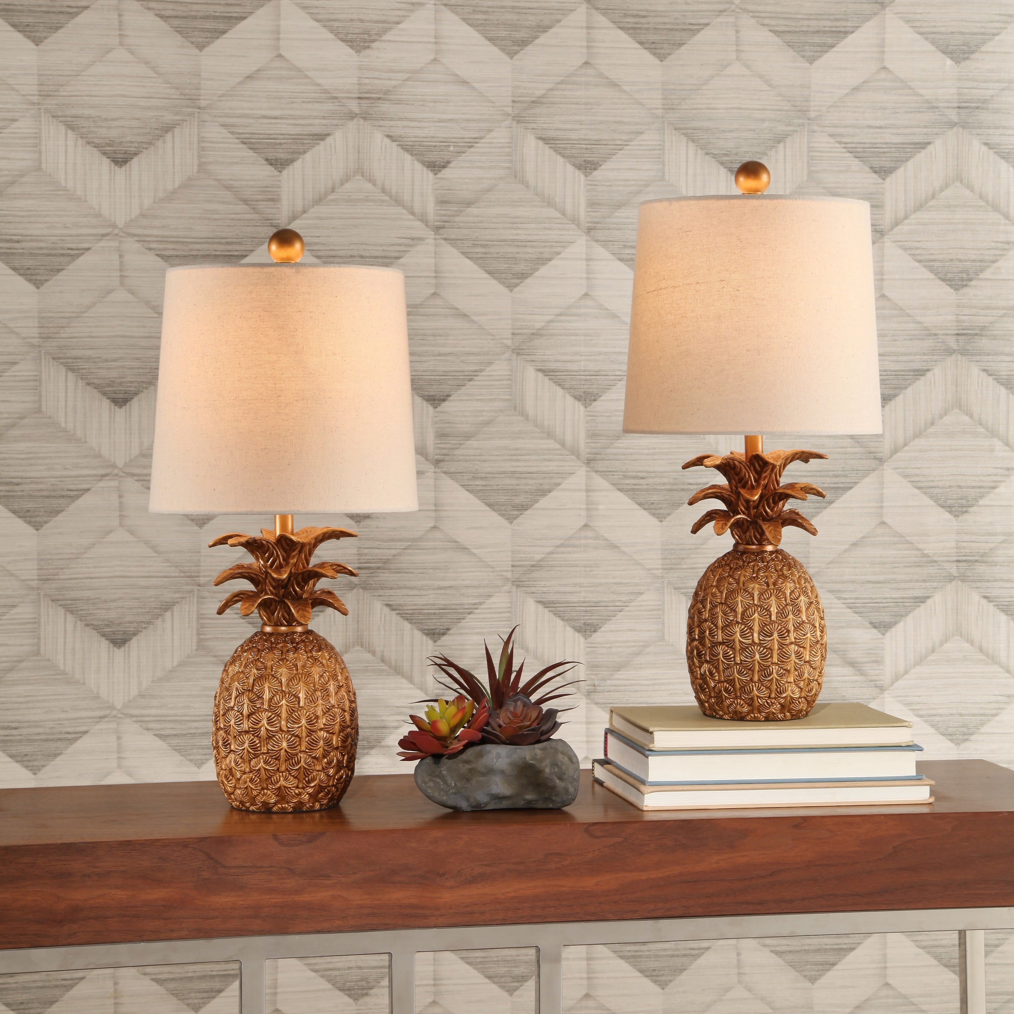 with pineapple lamp shade table products decorative safa gold lamps safatablelampportrait complete lighting
