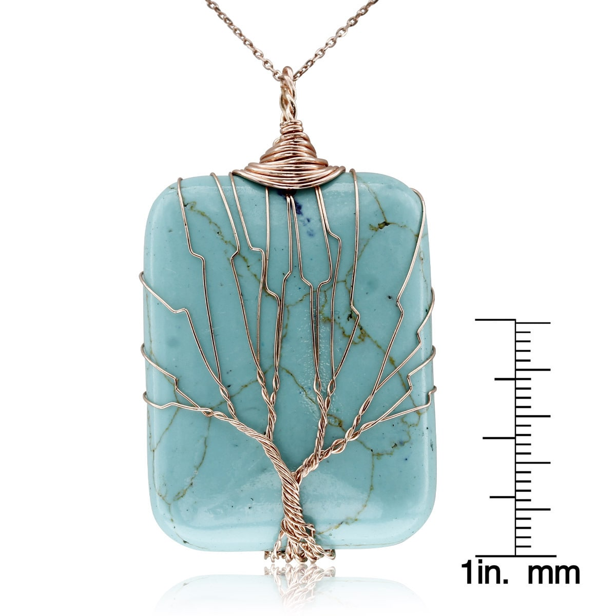 Shop Rose Gold Over Sterling Silver Tree of Life Wire Wrapped ...