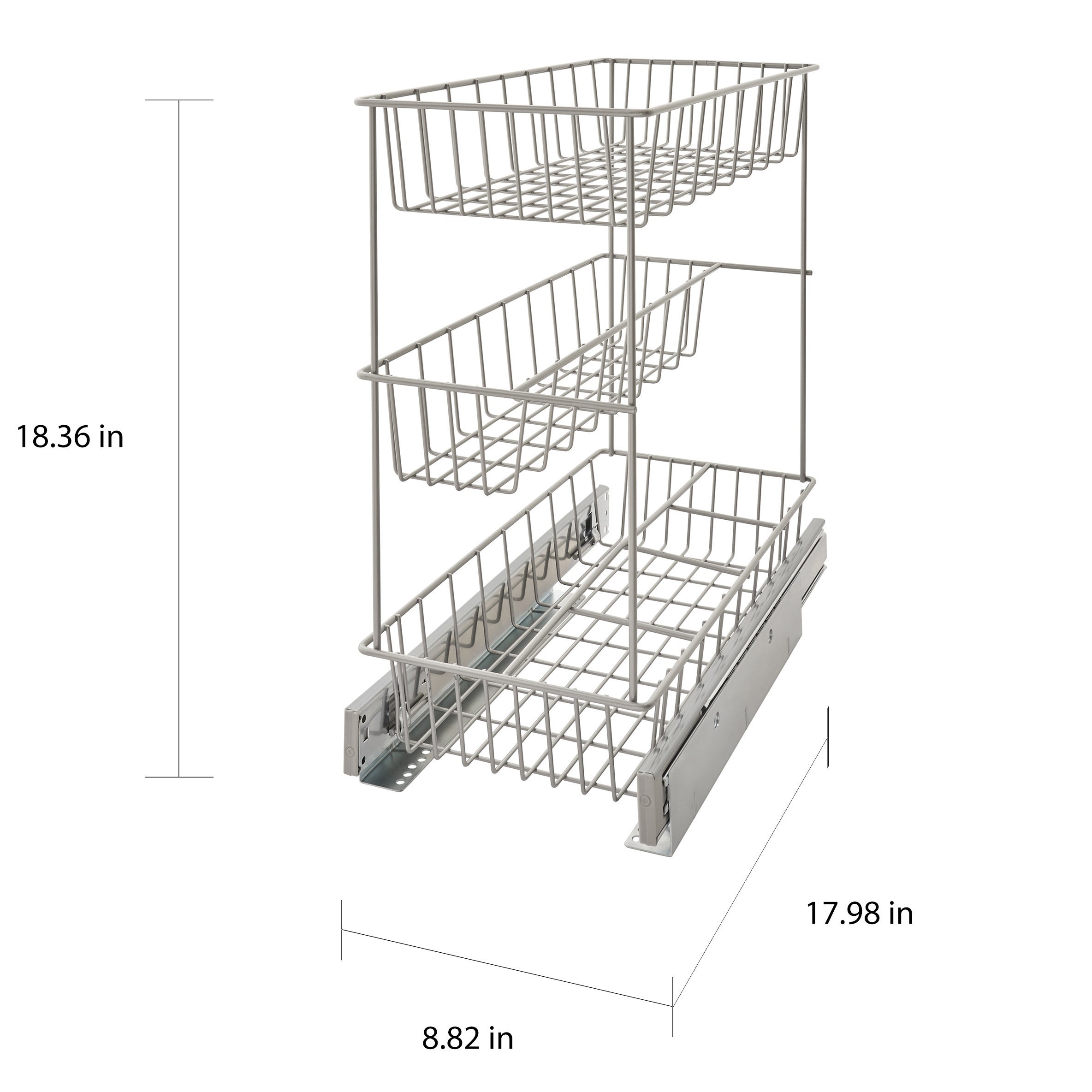 ClosetMaid Premium 8.75 Inch 3 Tier Compact Cabinet Pull Out Basket   Free  Shipping Today   Overstock   21019040