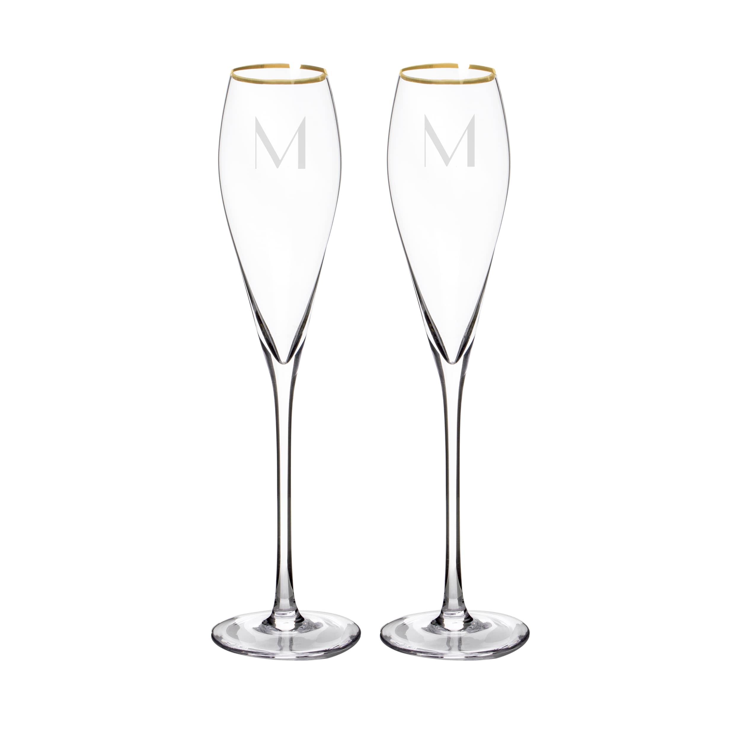 Shop Personalized Gold Champagne Flutes & Cake Serving Set - On Sale ...