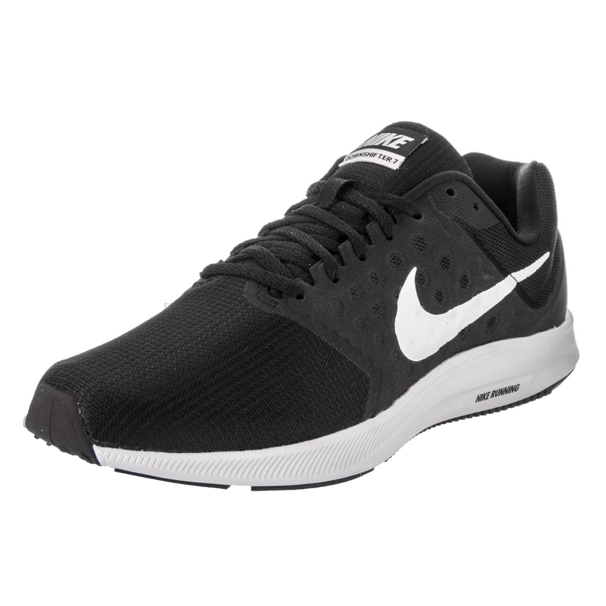 96baf23bb059 Shop Nike Men s Downshifter 7 Black Running Shoes - Free Shipping ...